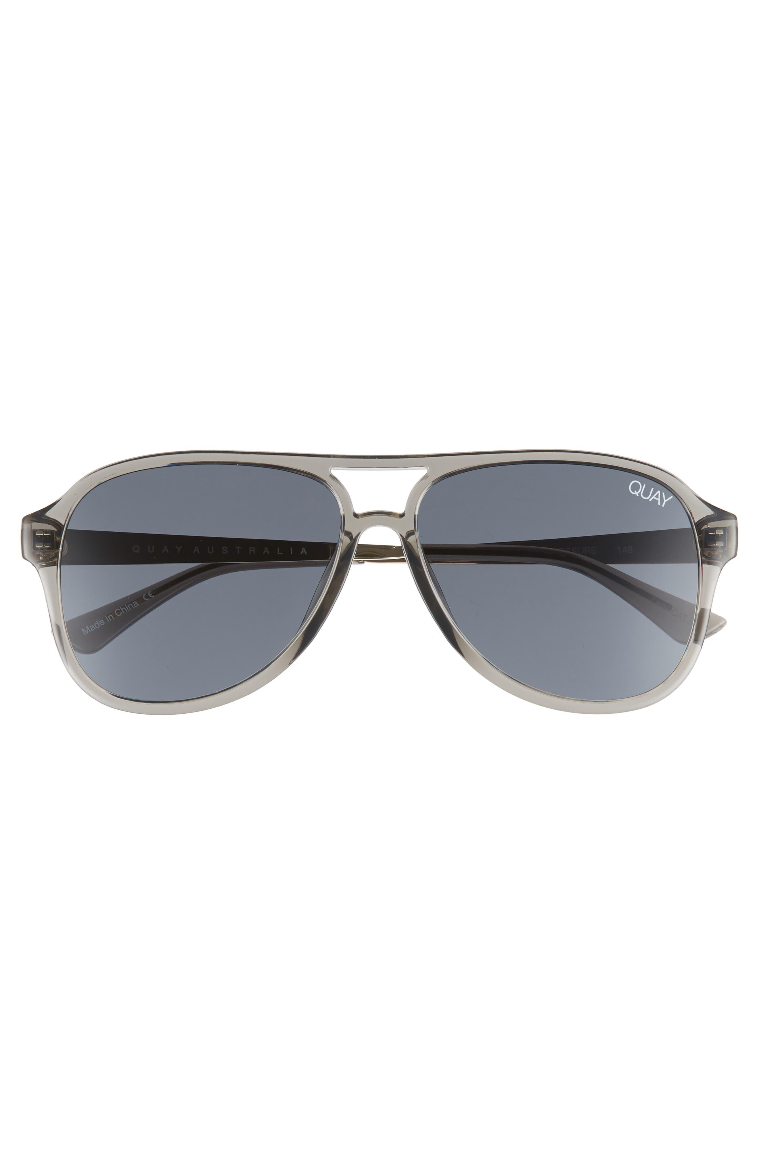 Under Pressure 58mm Aviator Sunglasses,                             Alternate thumbnail 3, color,                             GREY/ SMOKE