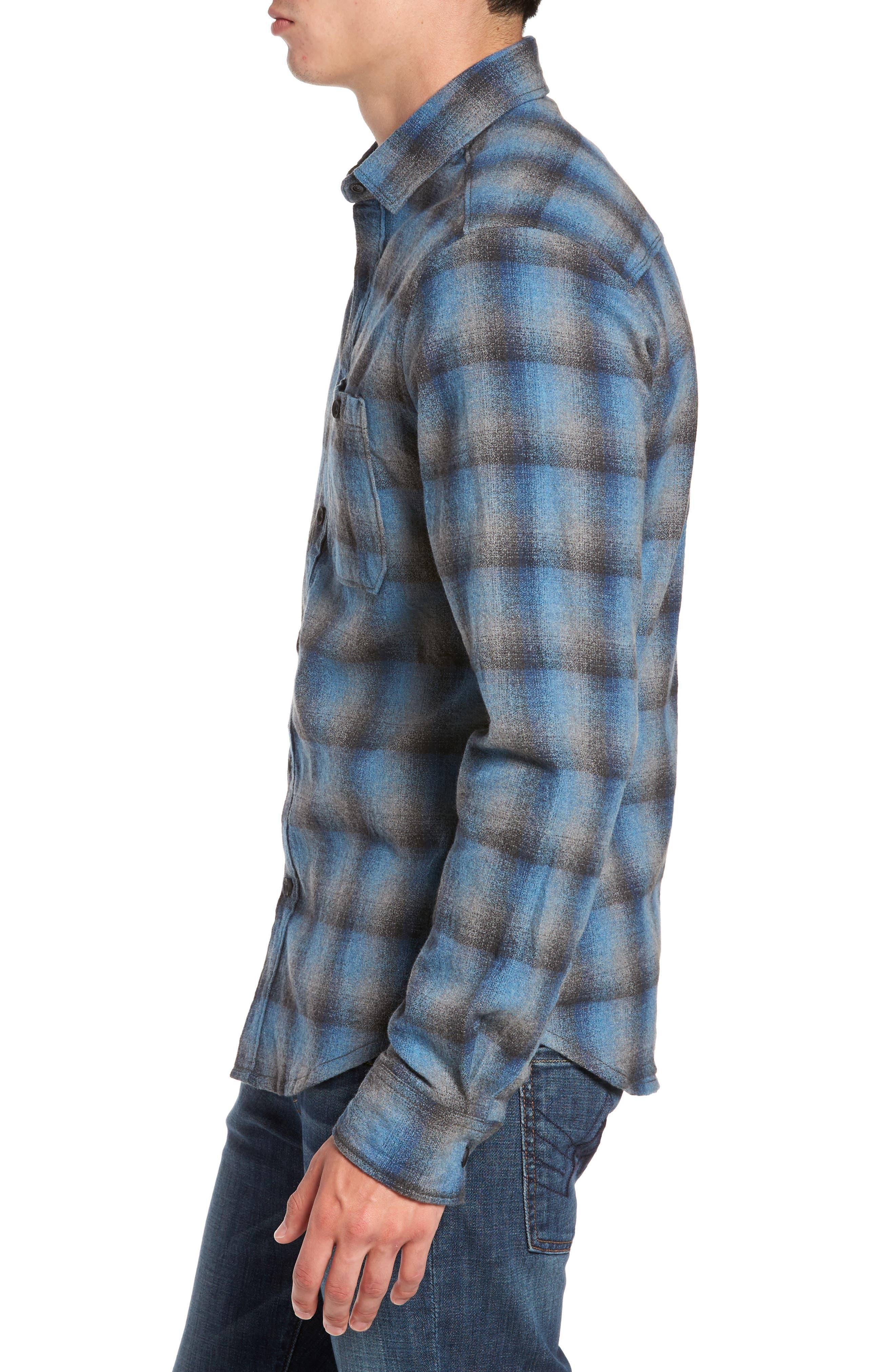 Delta Regular Fit Brushed Crepe Sport Shirt,                             Alternate thumbnail 3, color,                             486
