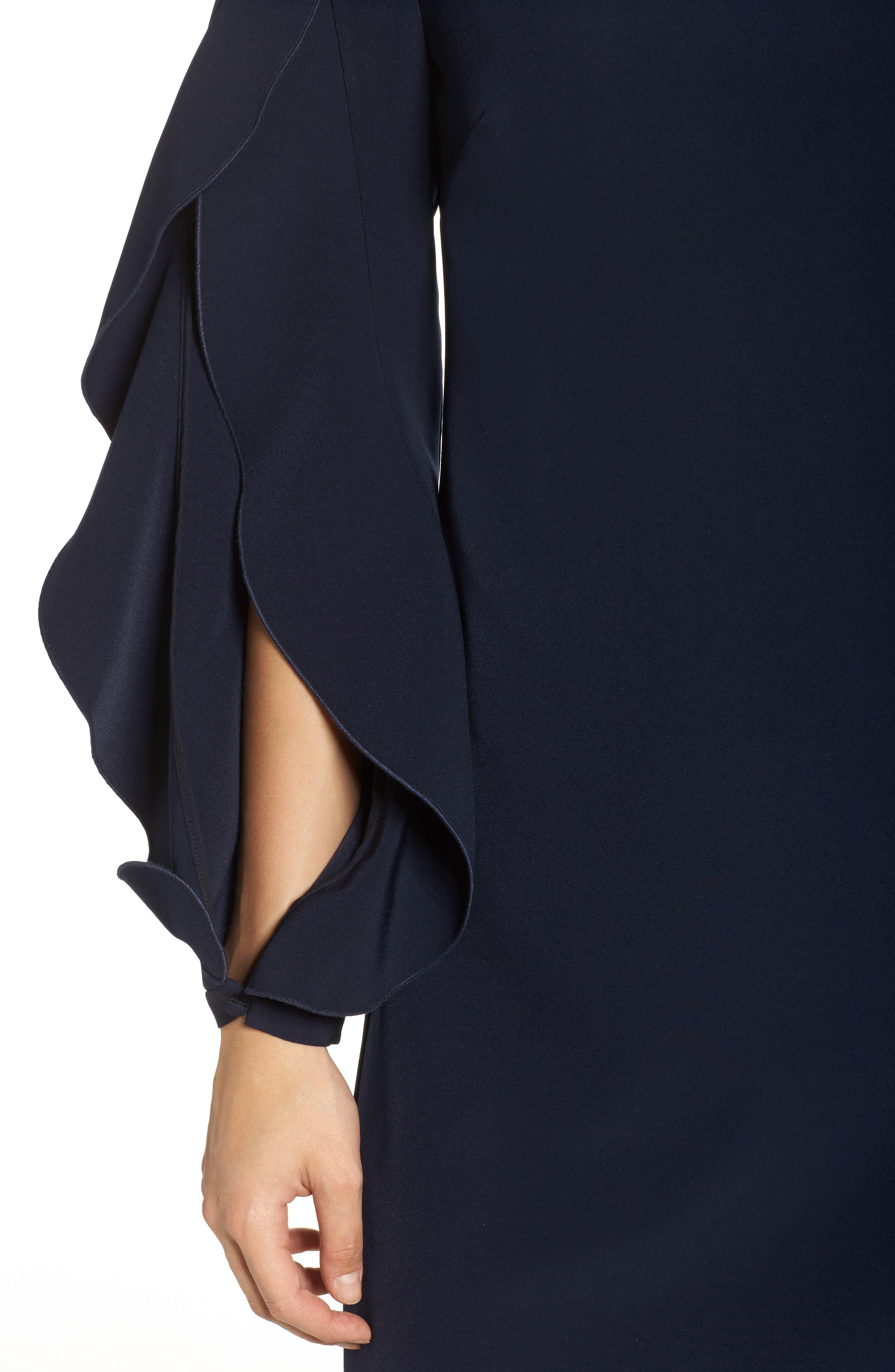 Ruffle Sleeve Shift Dress,                             Alternate thumbnail 4, color,