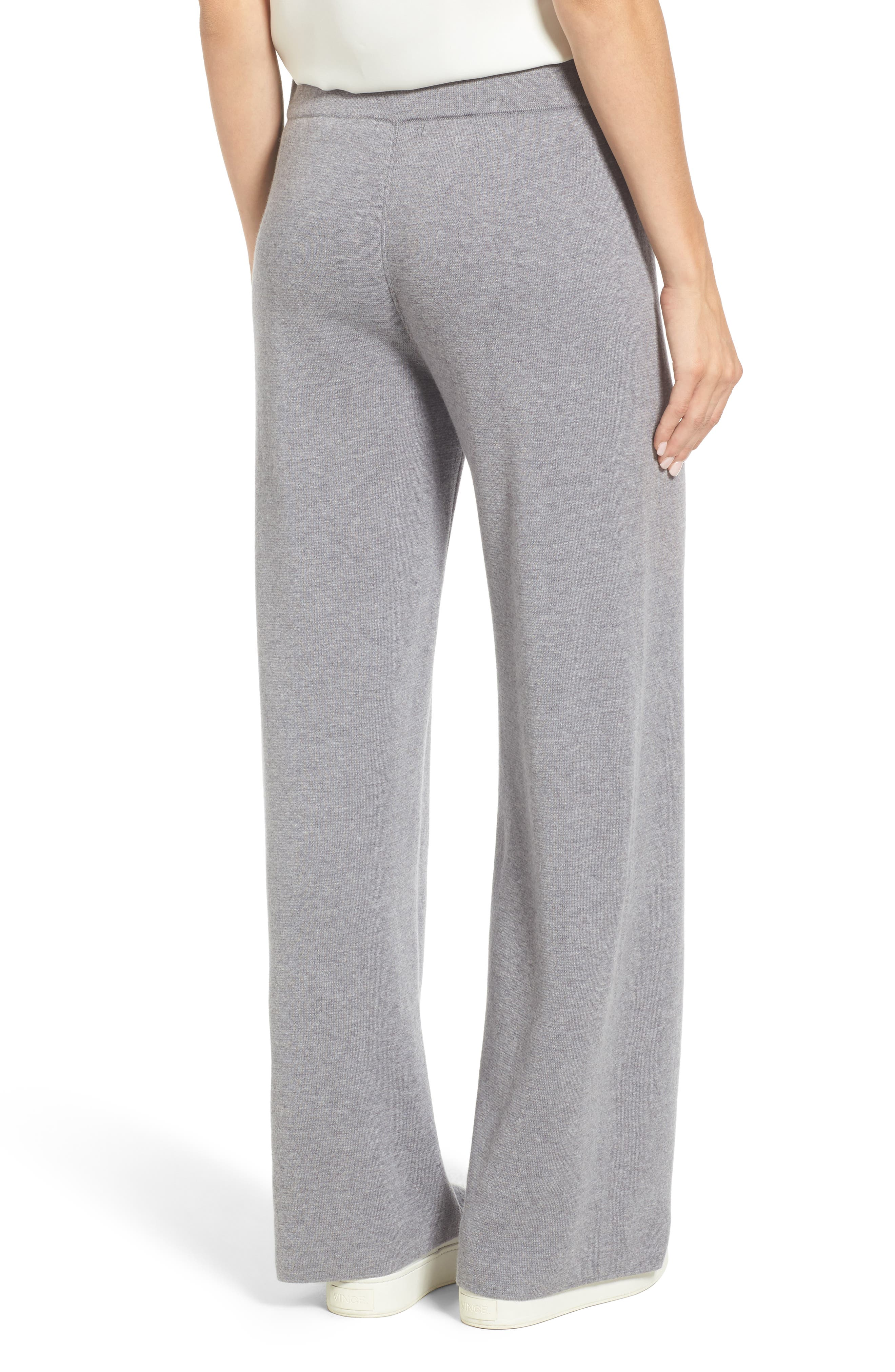 Heathered Knit Pants,                             Alternate thumbnail 2, color,                             WARM GREY