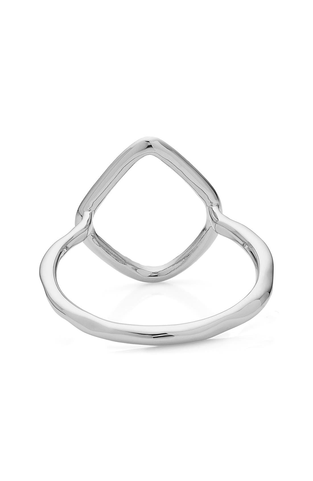 'Riva' Diamond Hoop Ring,                             Alternate thumbnail 3, color,                             SILVER