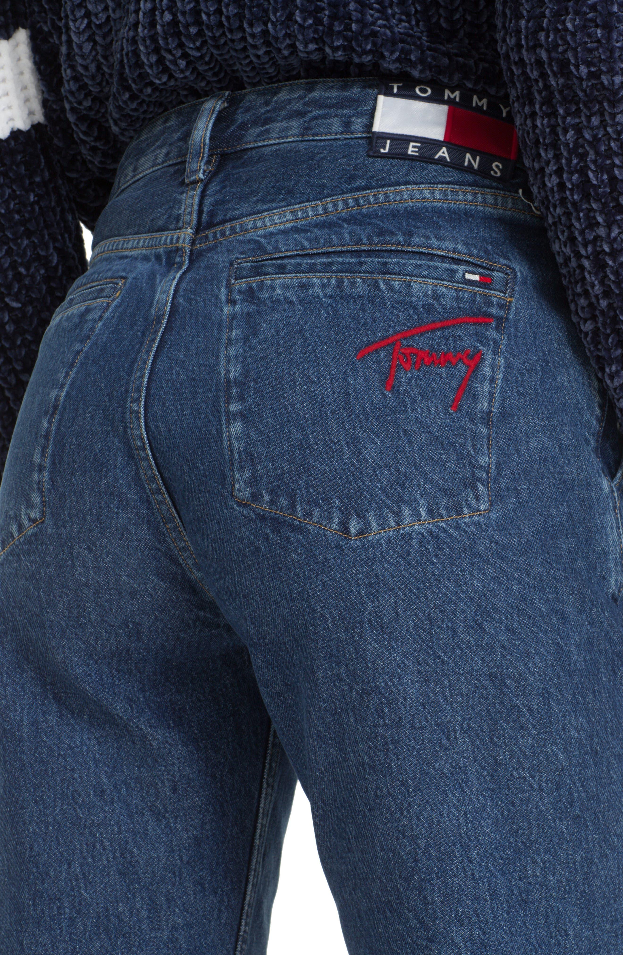 TJW Straight Leg Jeans,                             Alternate thumbnail 4, color,                             GOUGH MID BLUE RIGID