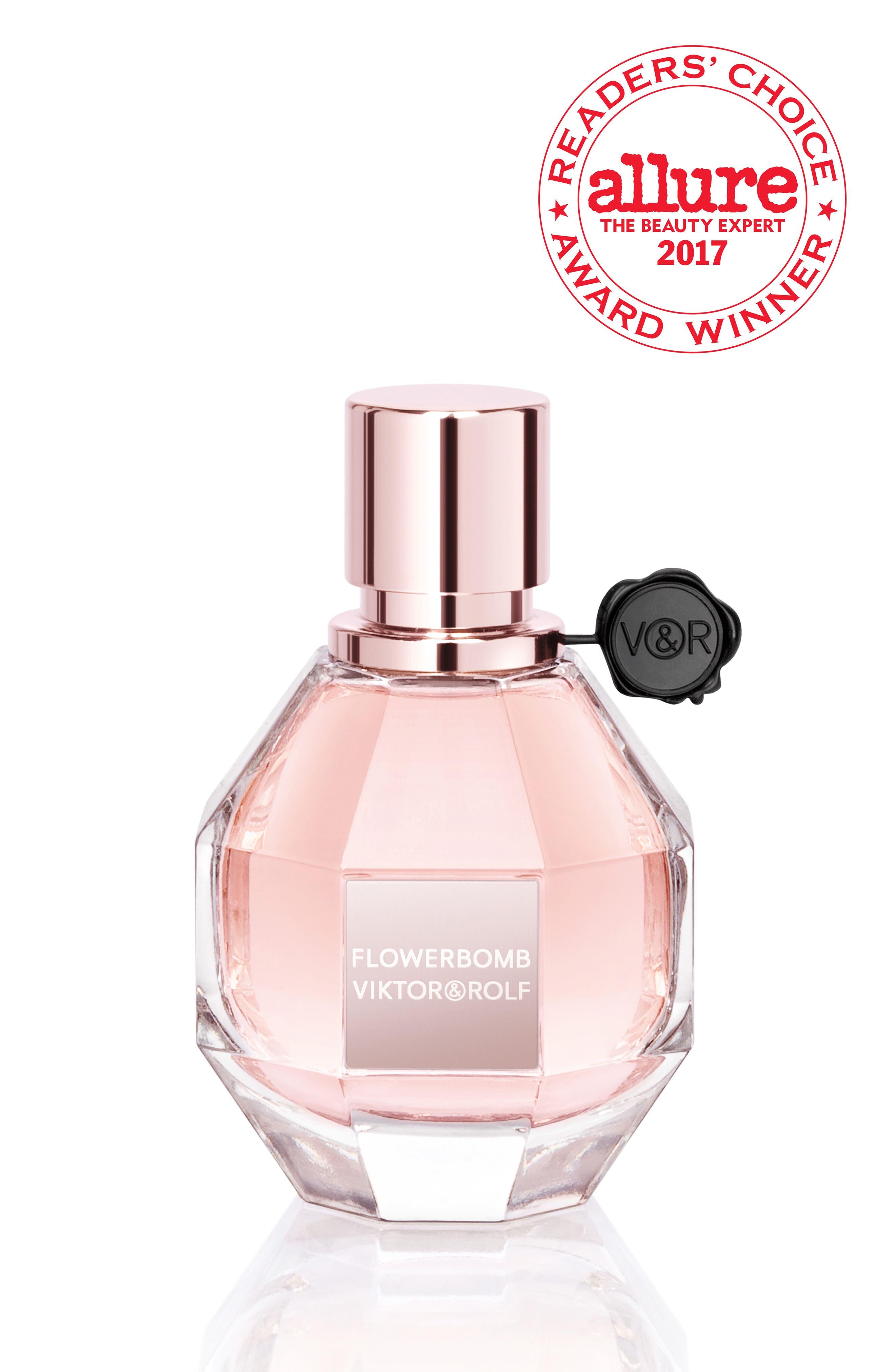 Flowerbomb Refillable Eau de Parfum Spray,                             Main thumbnail 1, color,                             NO COLOR
