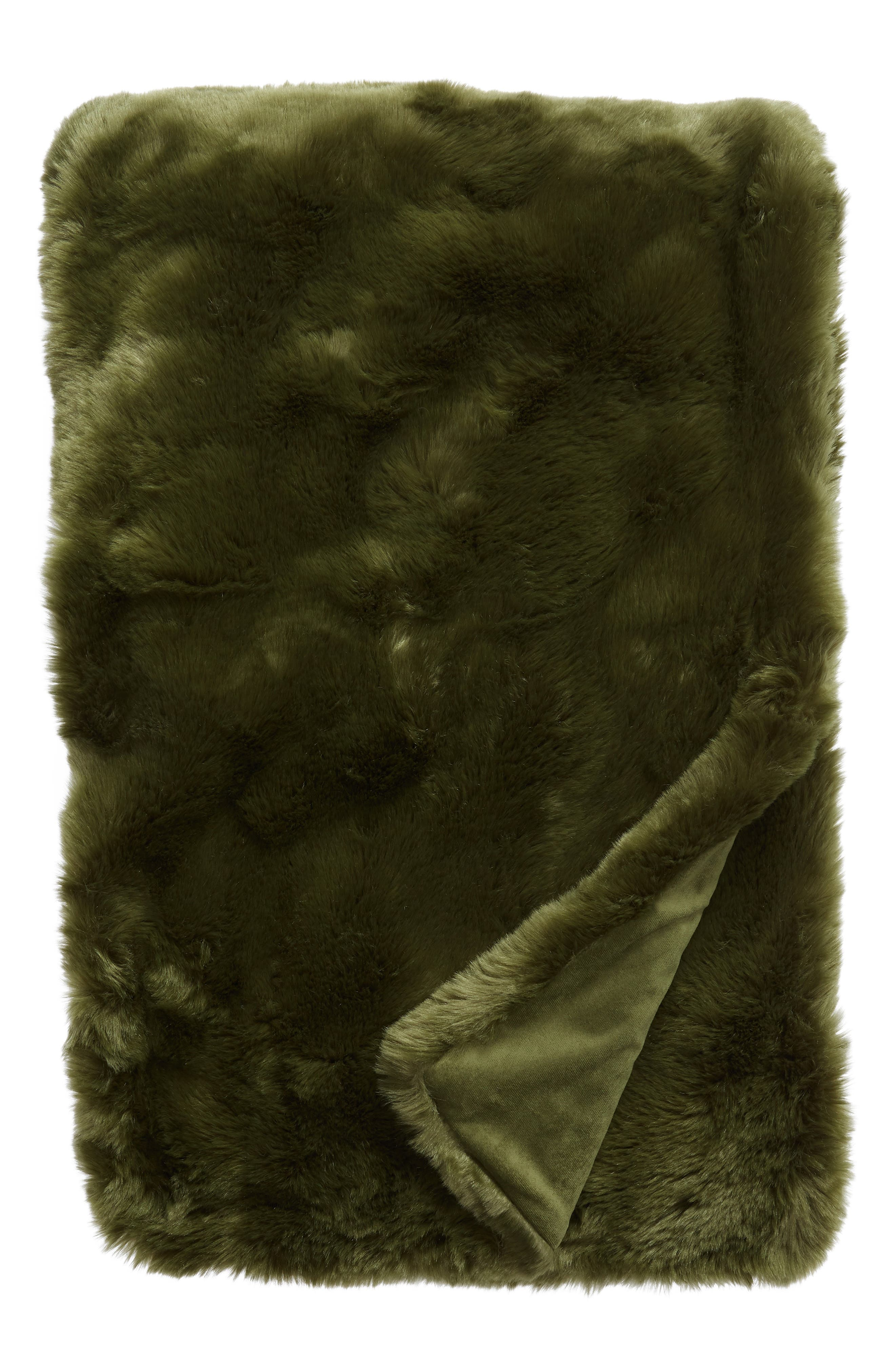 Cuddle Up Faux Fur Throw Blanket,                             Main thumbnail 3, color,