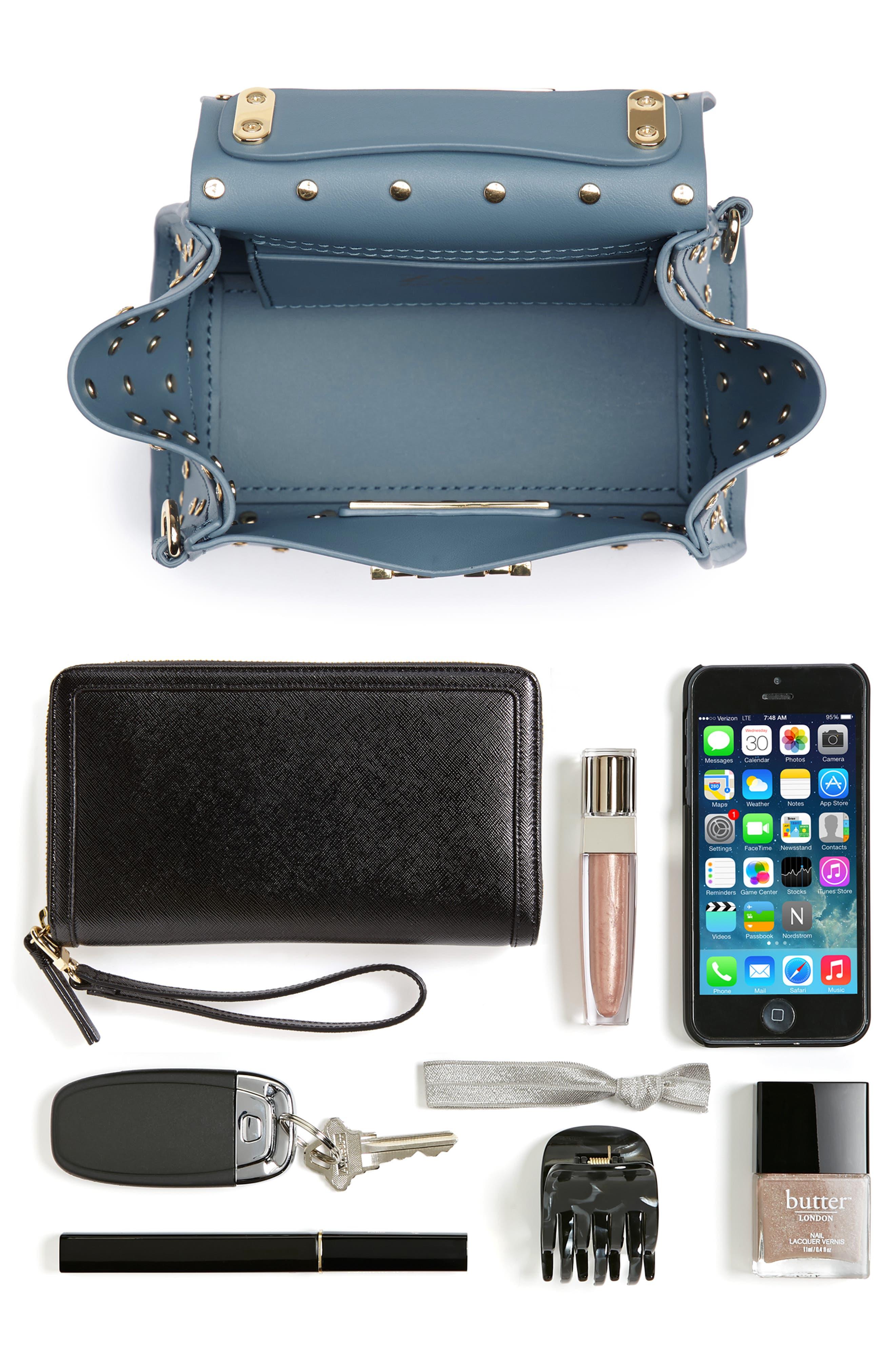 Mini Eartha Crystal Top Handle Bag,                             Alternate thumbnail 7, color,                             420