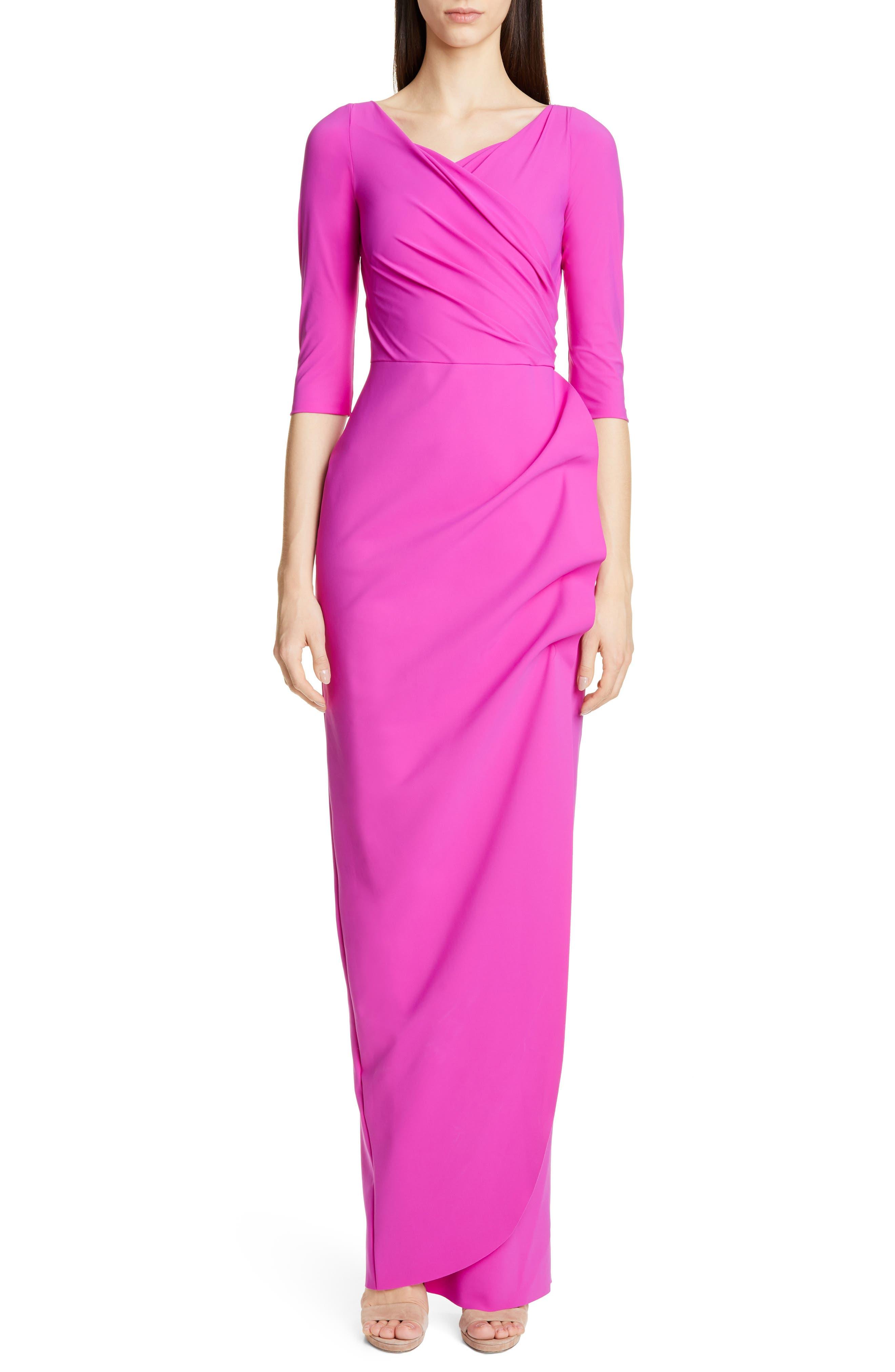 Chiara Boni La Petite Robe Florien Ruched Evening Dress, US / 42 IT - Pink