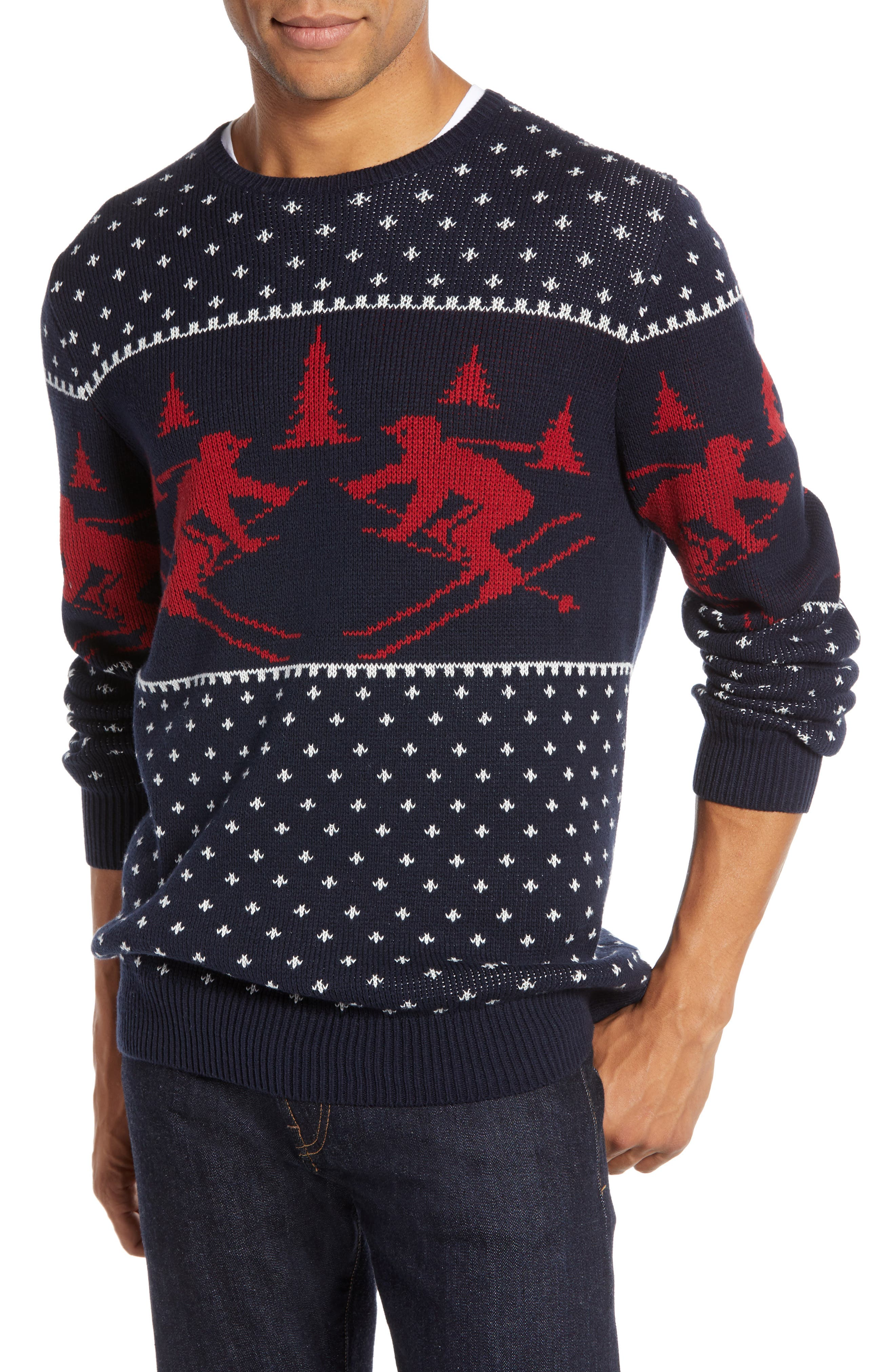 Fair Isle Ski Sweater,                         Main,                         color, 410