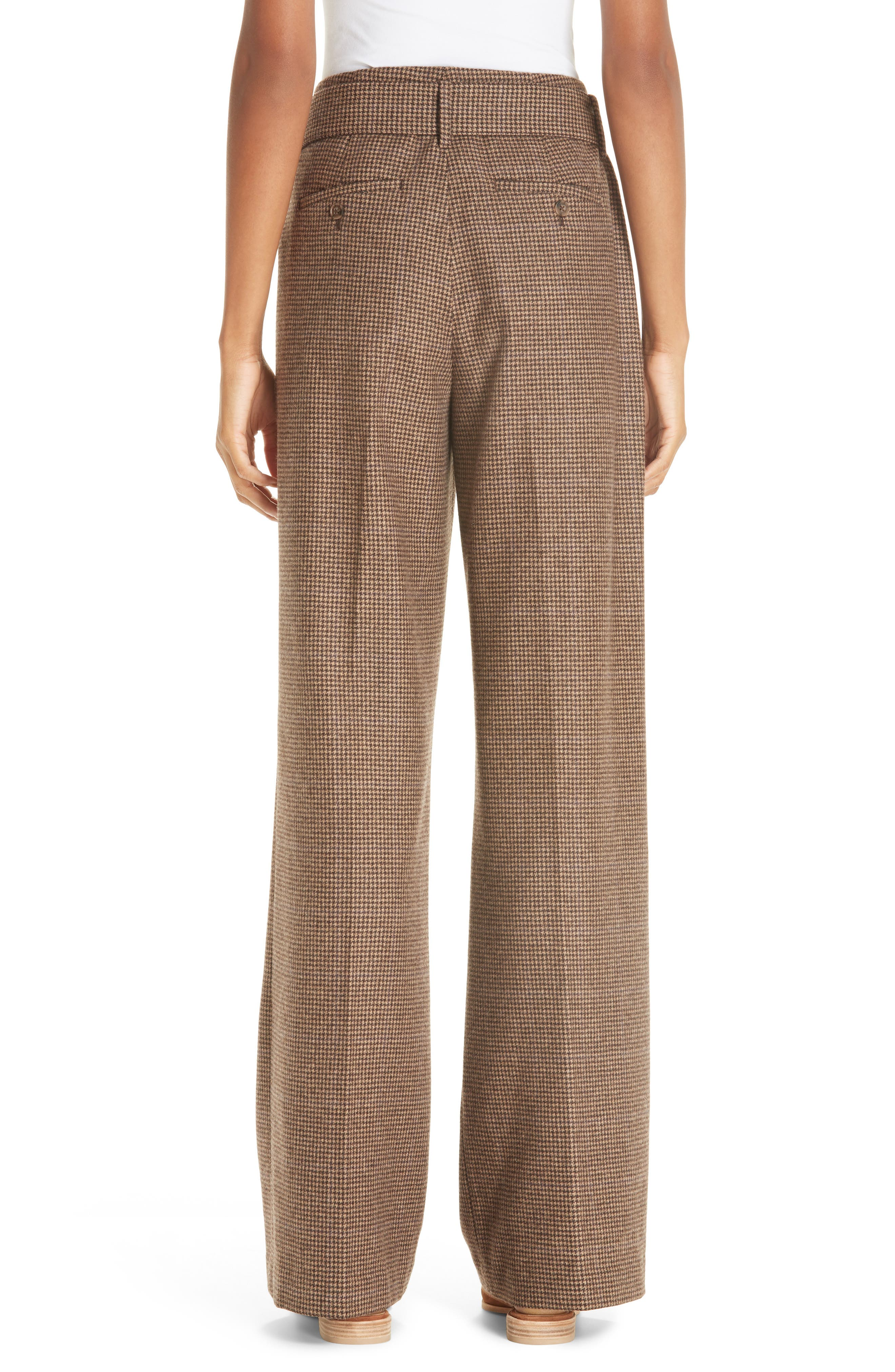 Relaxed Wide Leg Tweed Pants,                             Alternate thumbnail 2, color,                             200