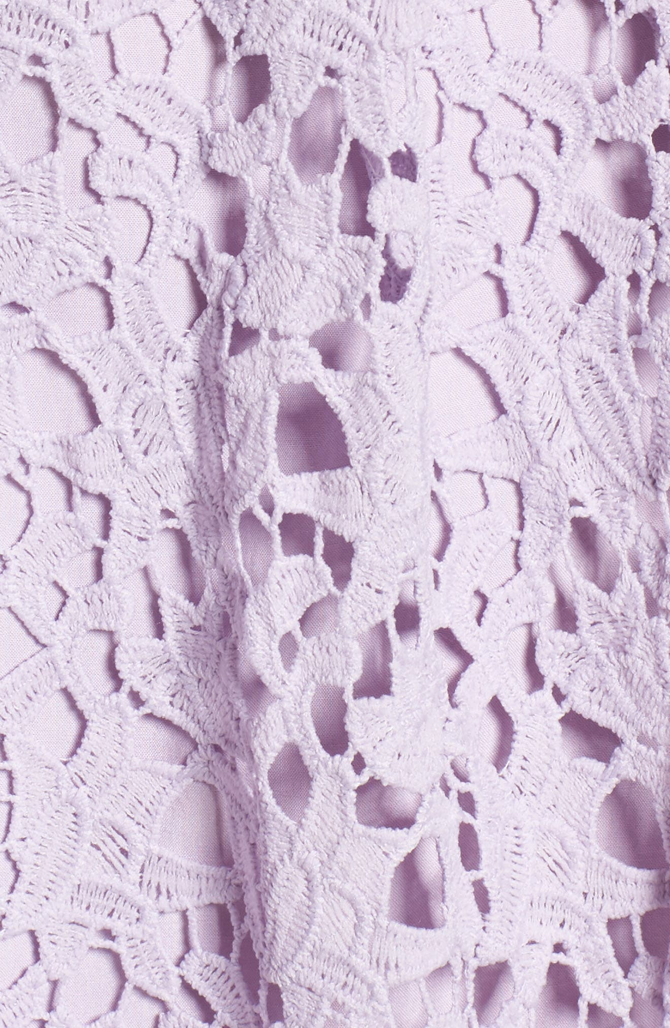 ASTR THE LABEL,                             Lace Midi Dress,                             Alternate thumbnail 6, color,                             LILAC