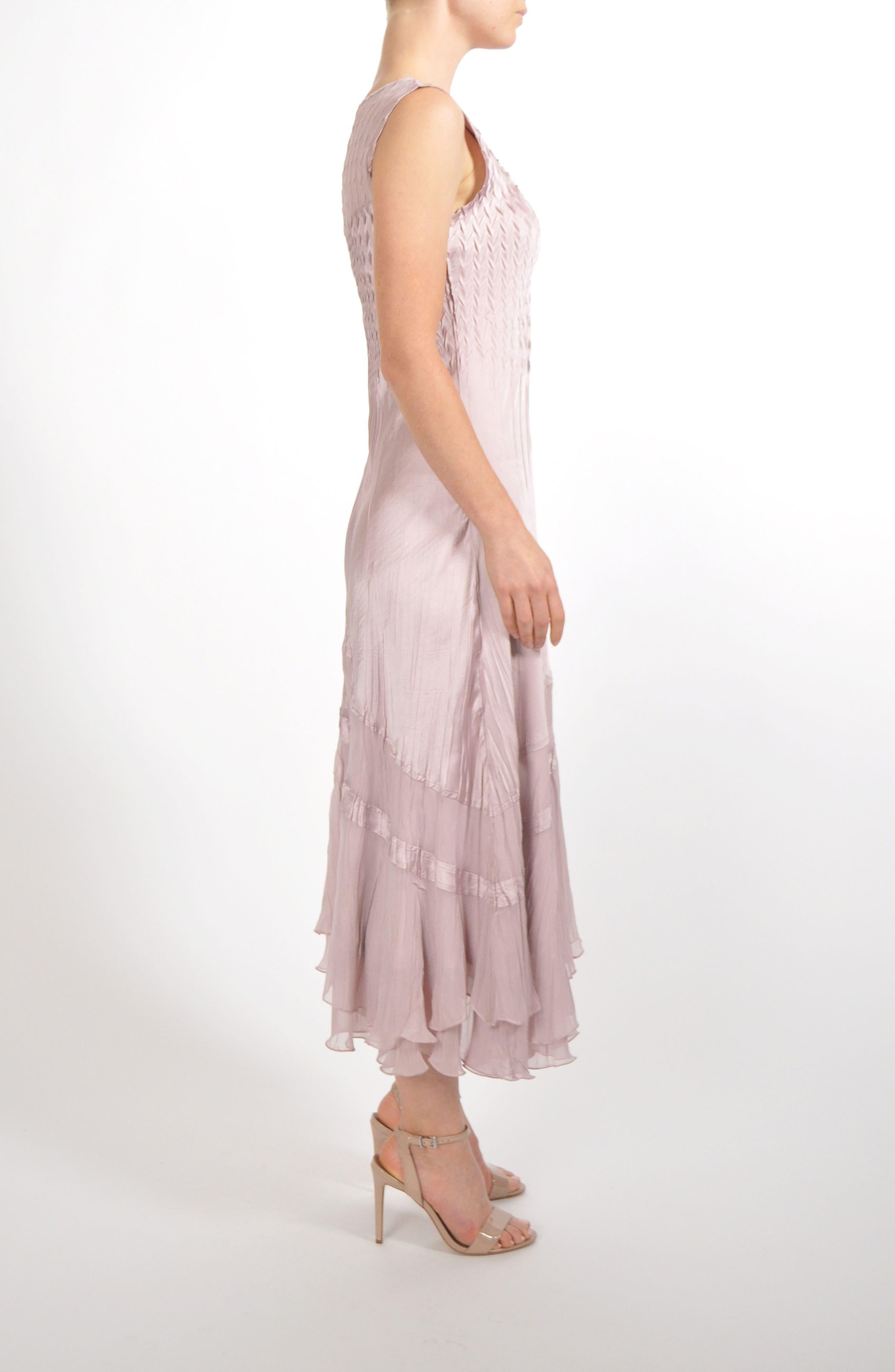 Embellished Tiered Hem Dress With Jacket,                             Alternate thumbnail 5, color,                             030