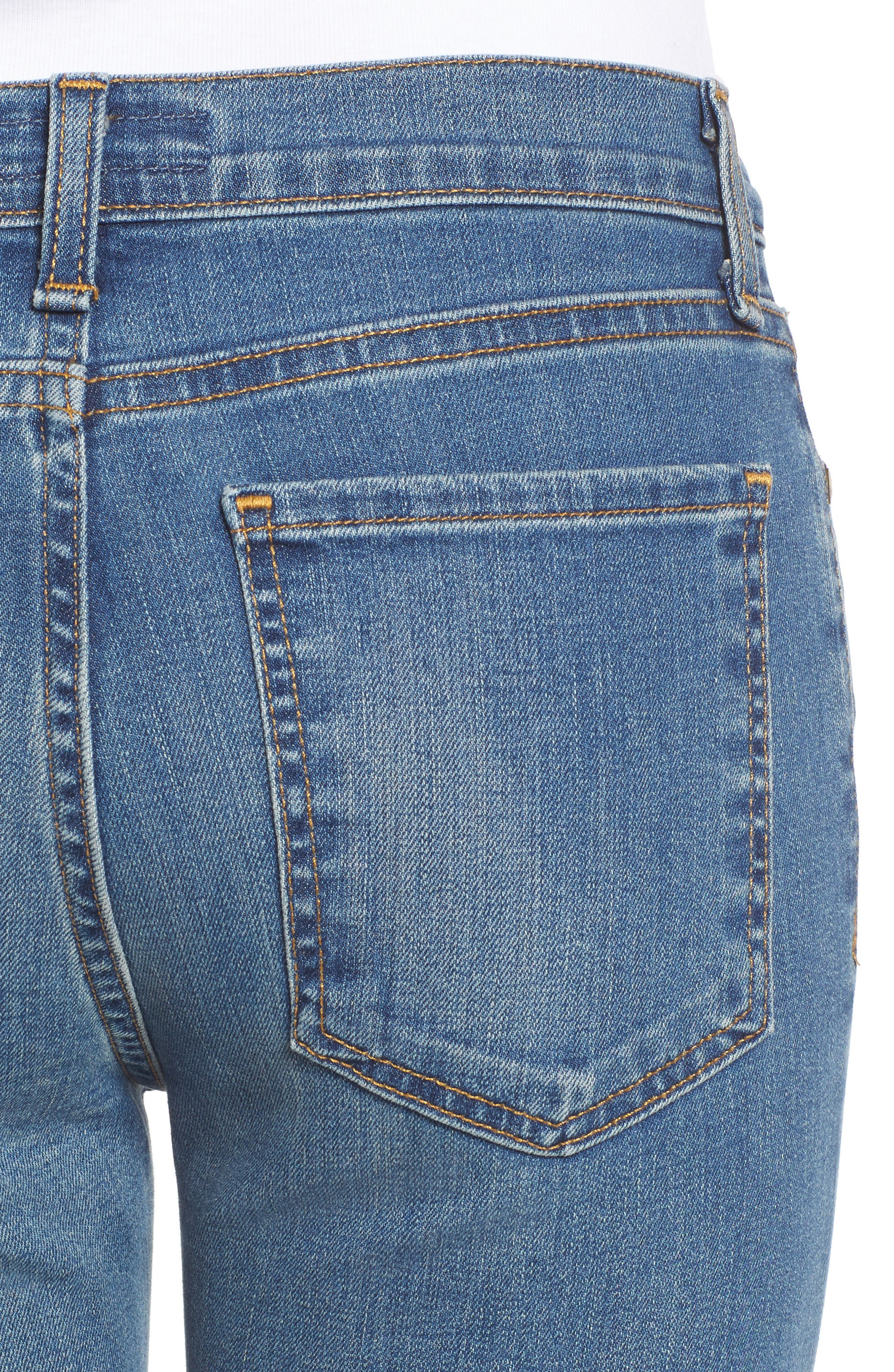 Crop Flare Jeans,                             Alternate thumbnail 4, color,                             420