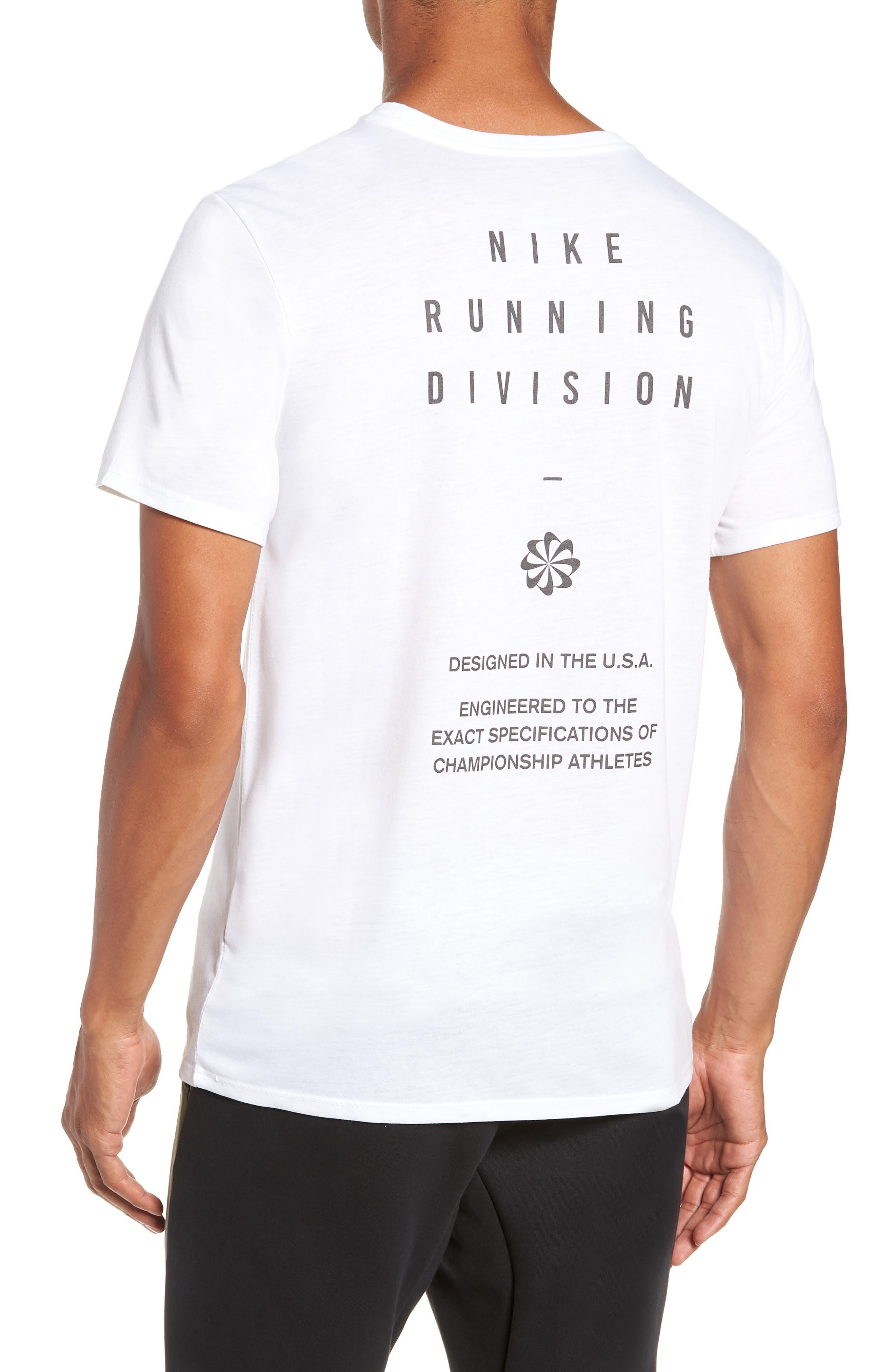 Dry Running Division T-Shirt,                             Alternate thumbnail 2, color,                             WHITE/ GUNSMOKE