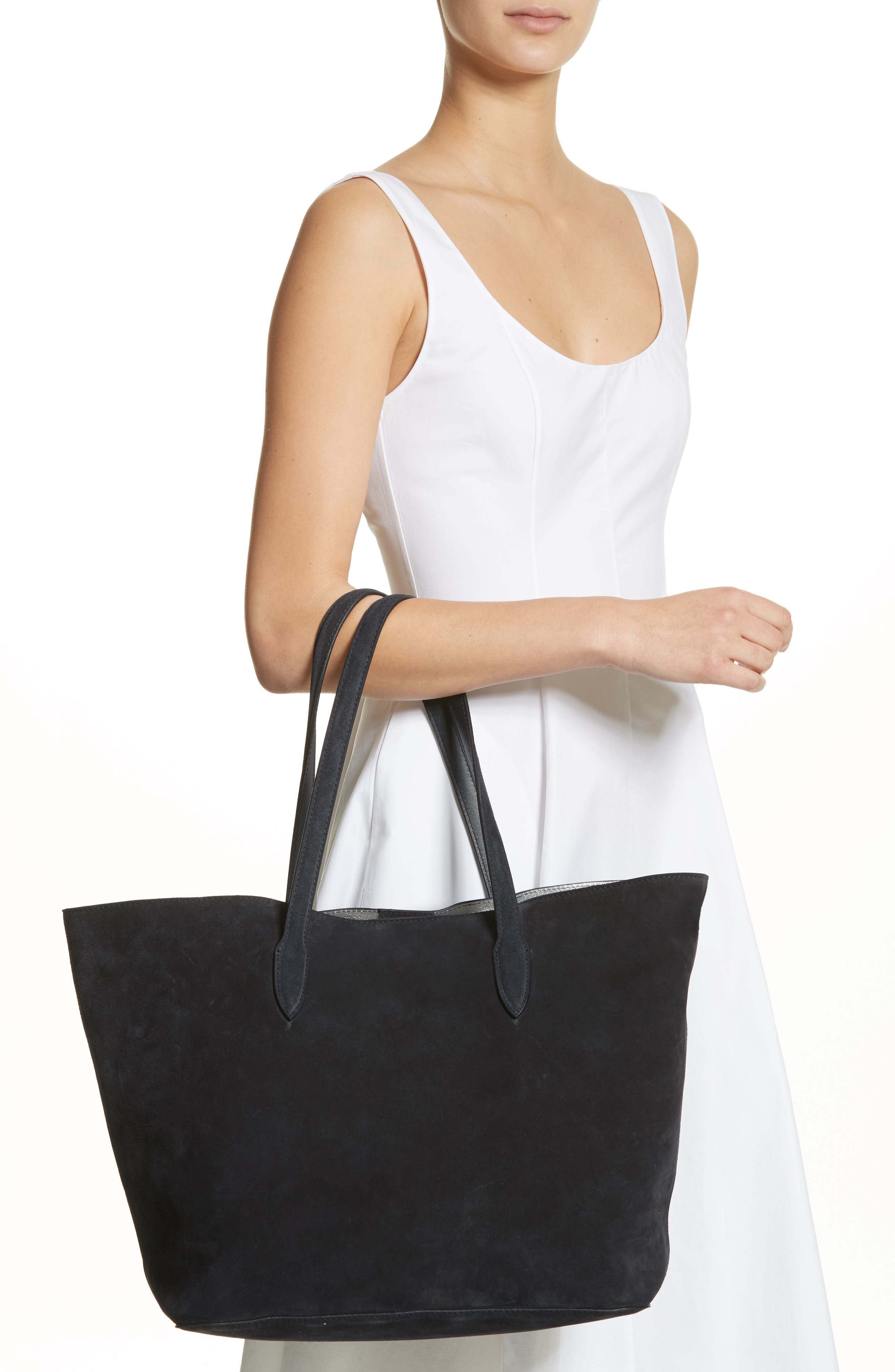 Jin Suede Tote,                             Alternate thumbnail 2, color,                             001