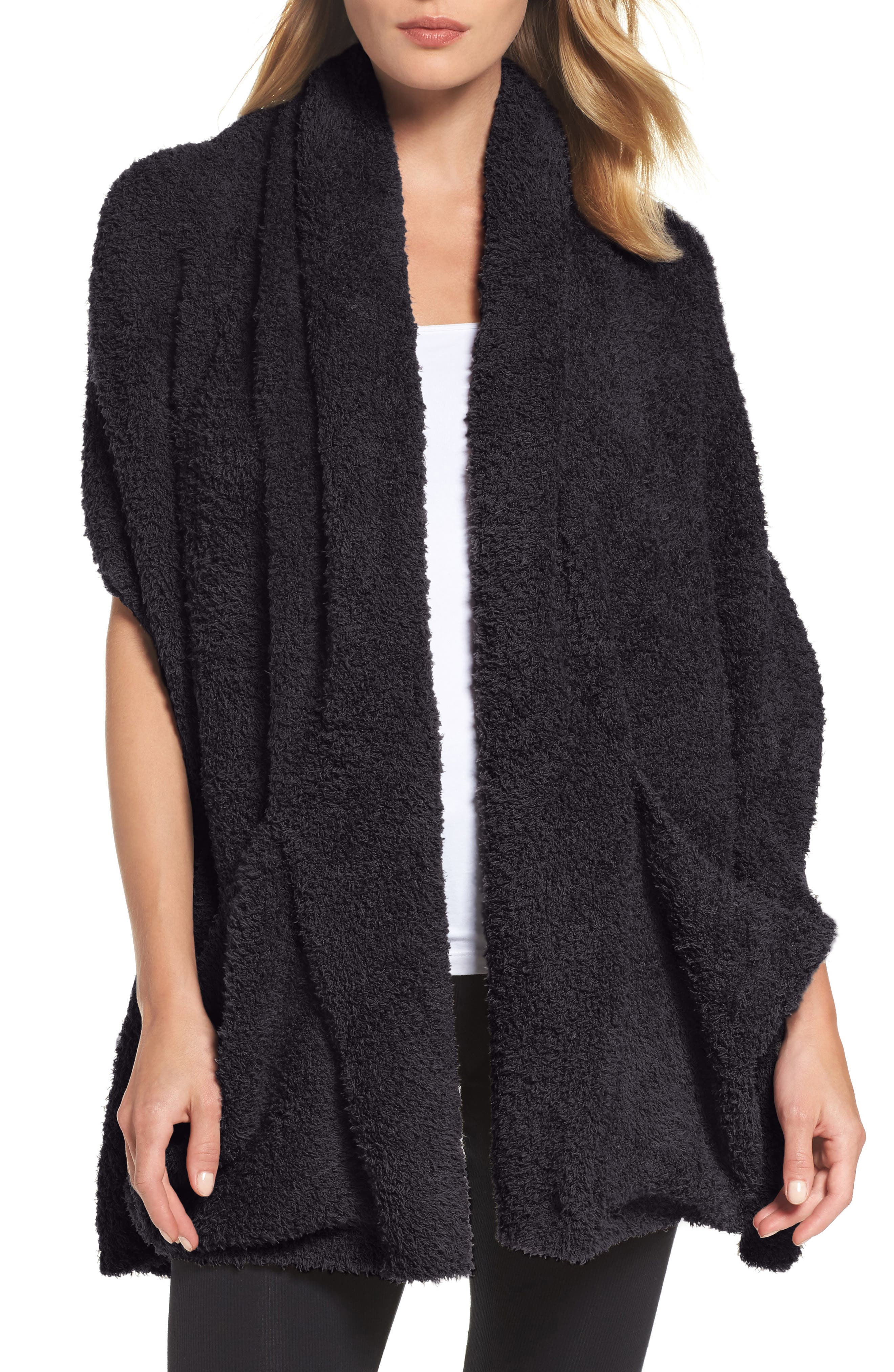 Barefoot Dreams Cozychic Travel Shawl, Size One Size - Black (Online Only)