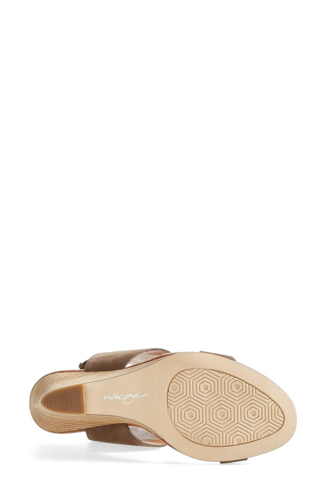 'Clarette' Wedge Sandal,                             Alternate thumbnail 4, color,                             030