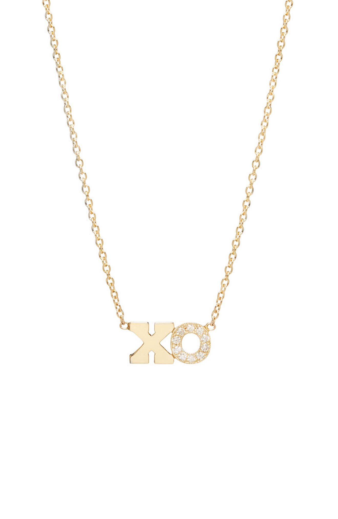 Typographical Diamond Pendant,                         Main,                         color, YELLOW GOLD