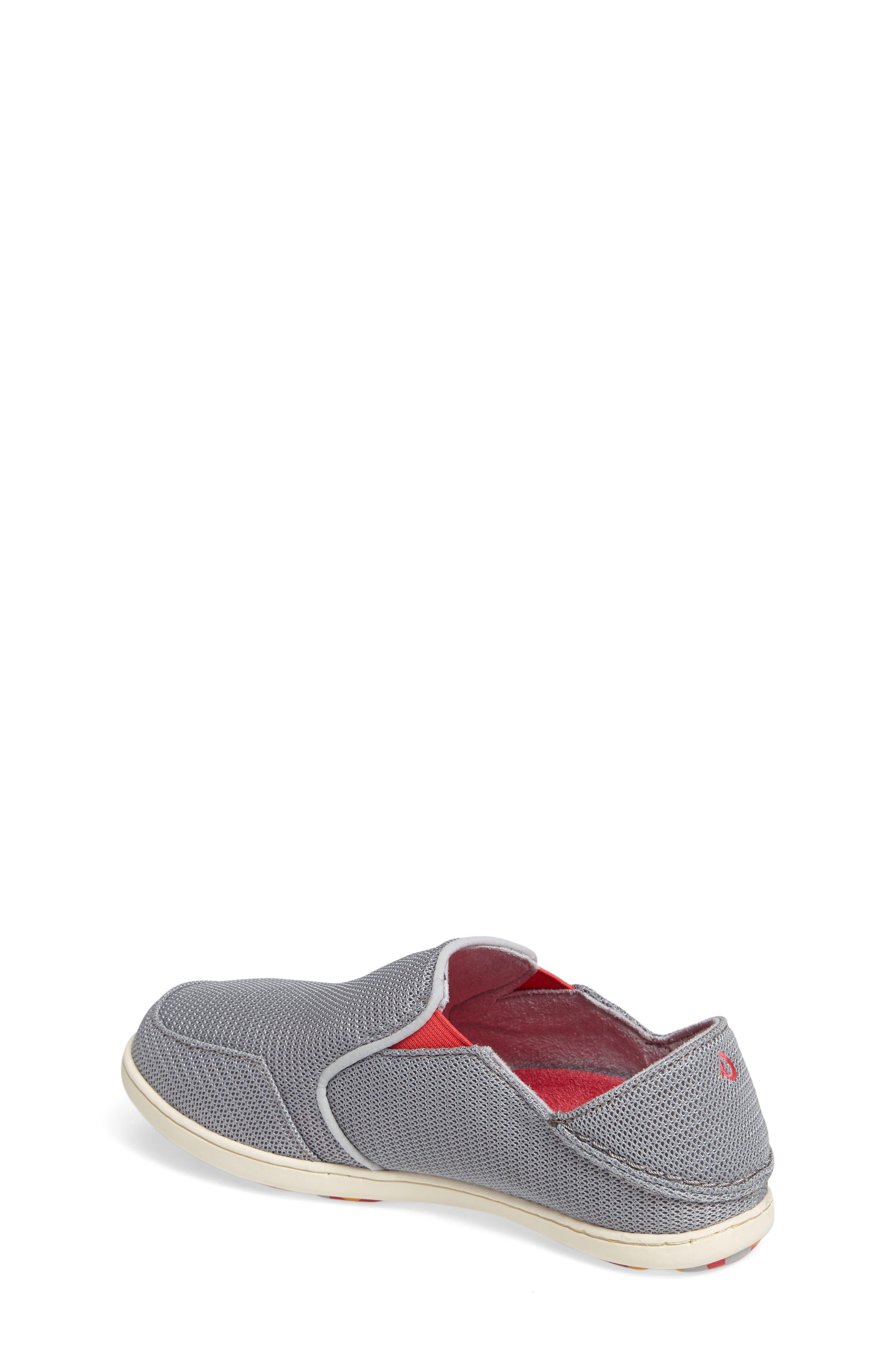 'Nohea' Mesh Shoe,                             Alternate thumbnail 2, color,                             PALE GREY/ DARK HIBISCUS