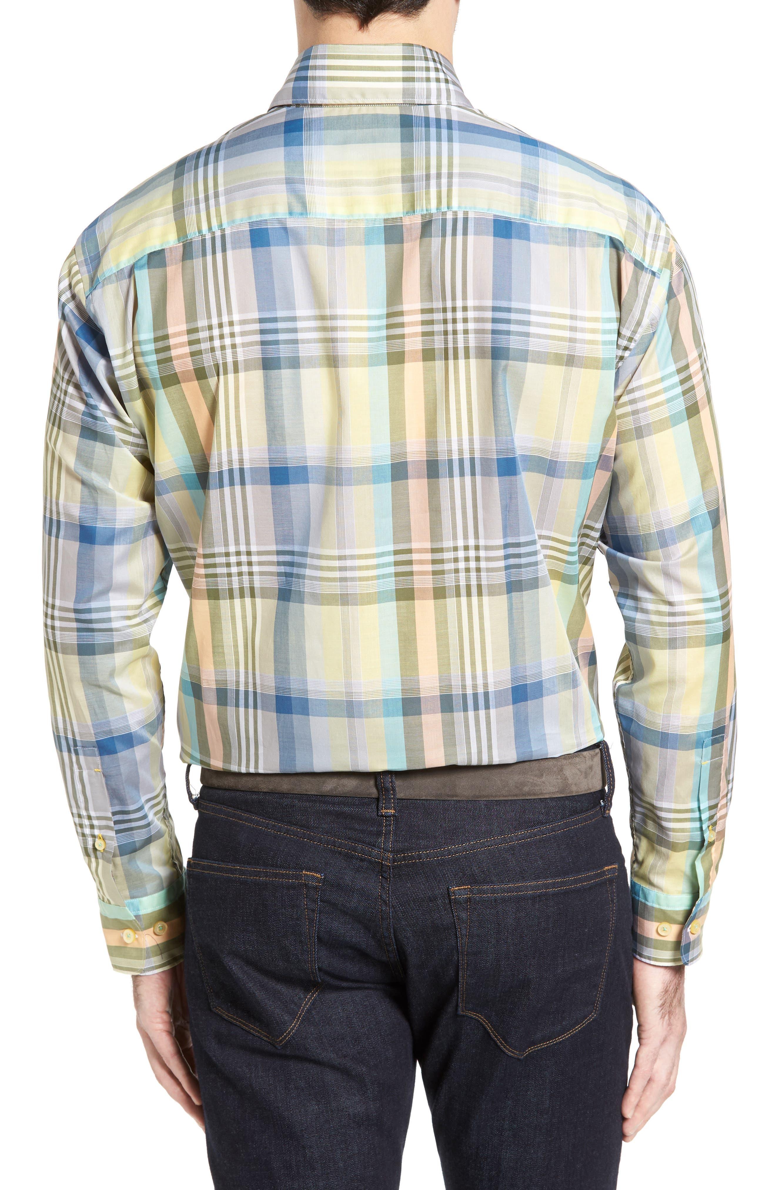 Anderson Classic Fit Plaid Sport Shirt,                             Alternate thumbnail 2, color,                             960