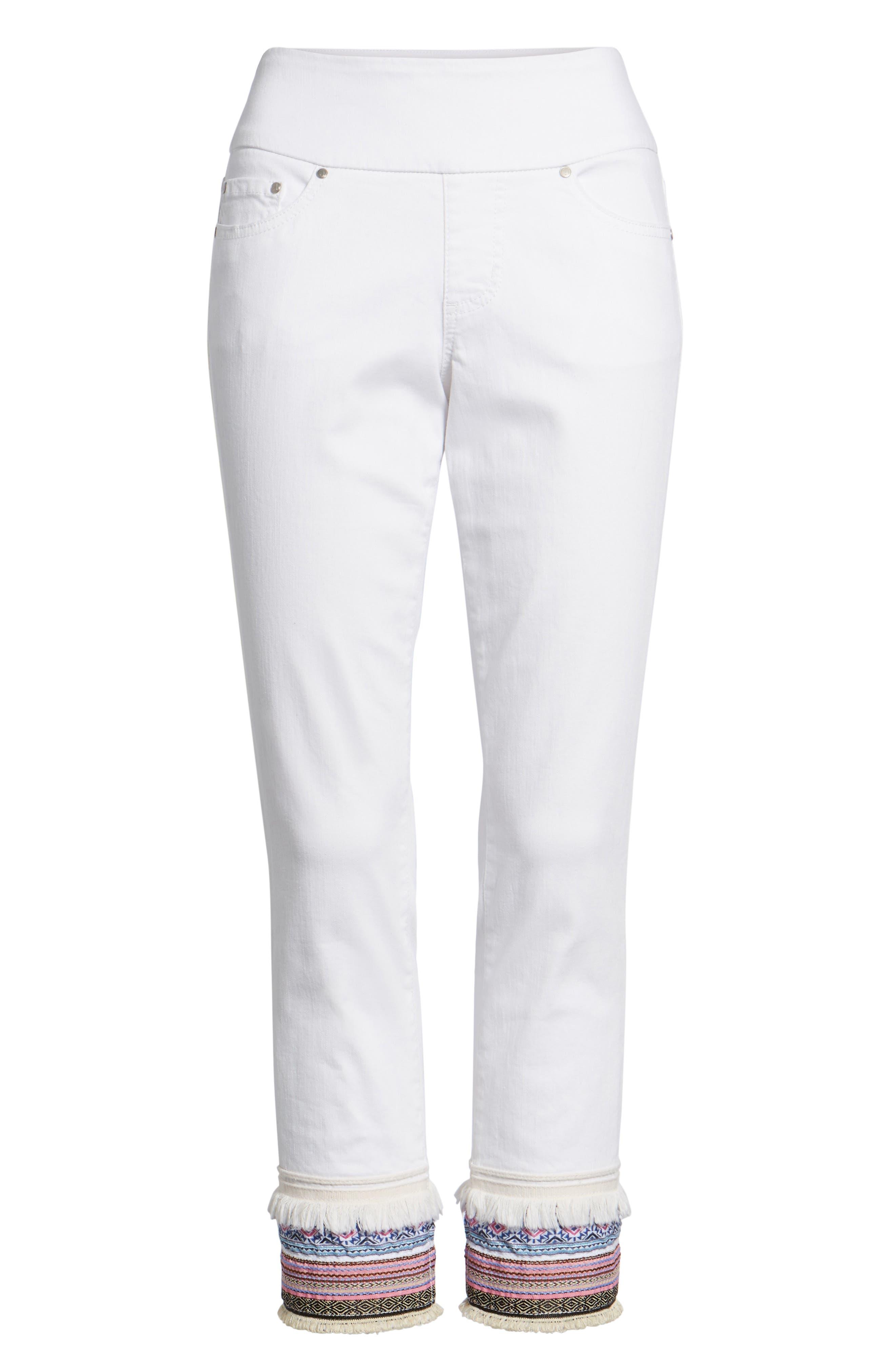 Embellished Denim Pants,                             Alternate thumbnail 6, color,                             168