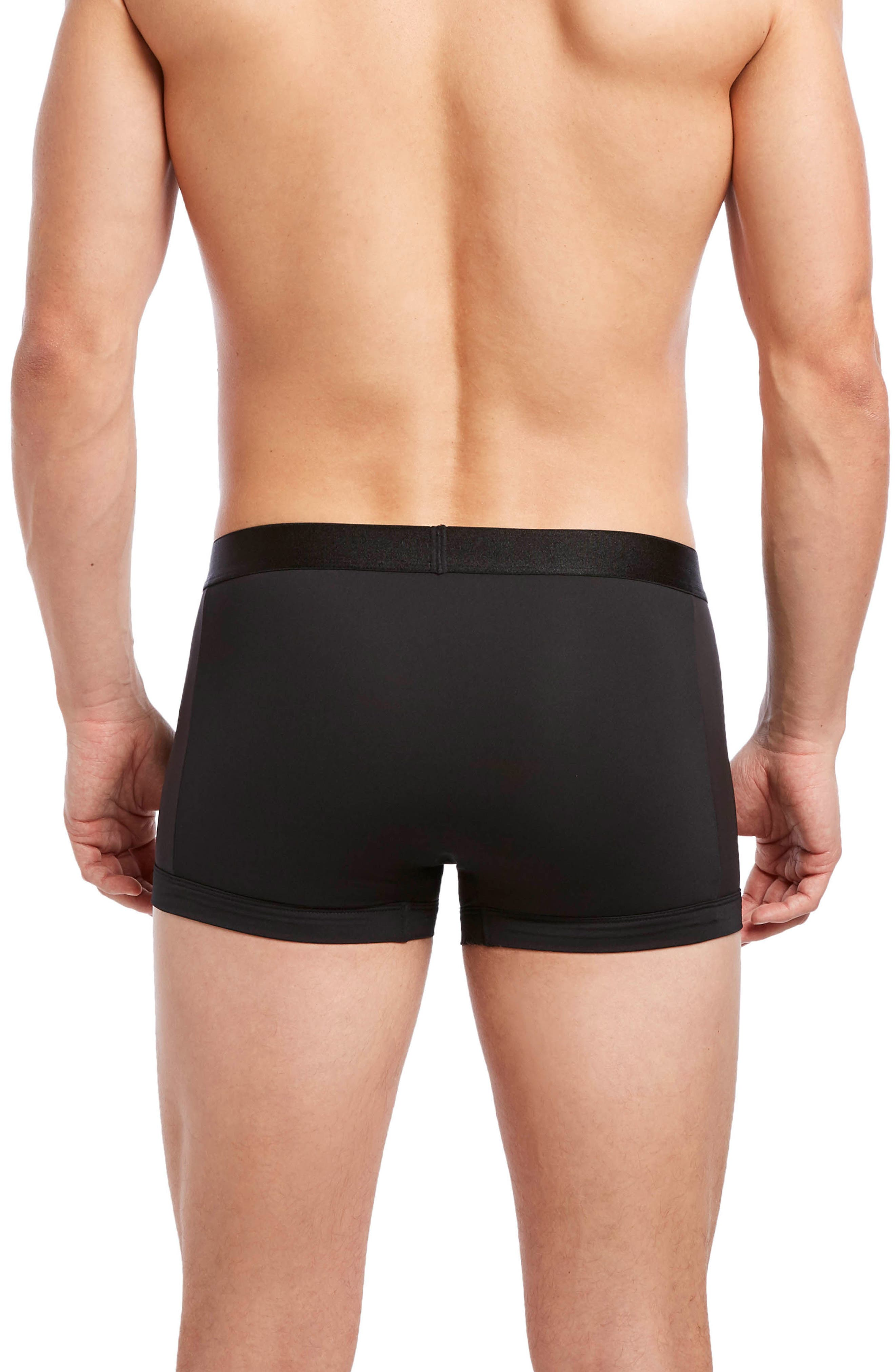 Air Luxe No-Show Trunks,                             Alternate thumbnail 2, color,                             BLACK