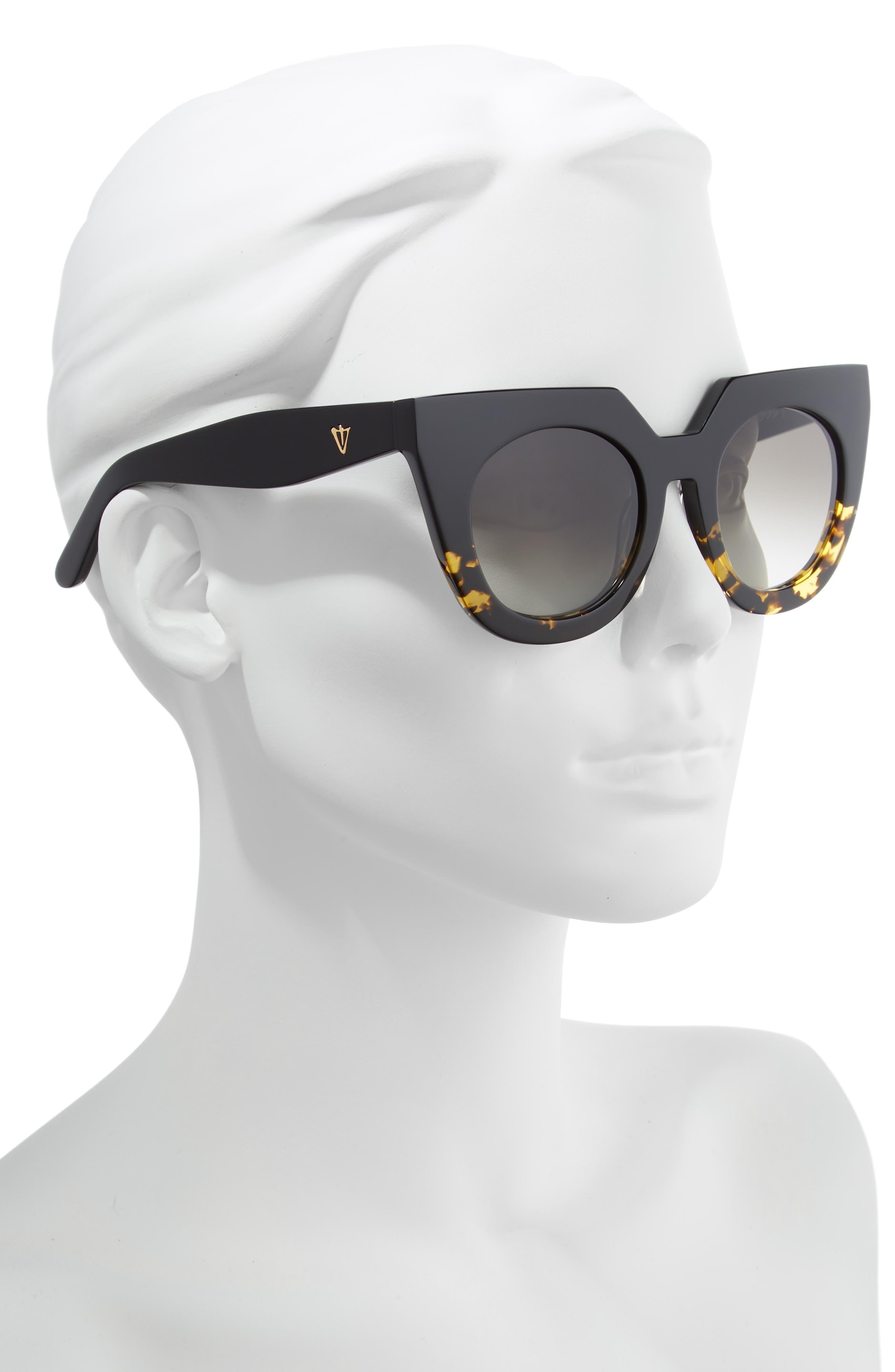 VALLEY,                             'Spleen' 49mm Oversized Cat Eye Sunglasses,                             Alternate thumbnail 2, color,                             003