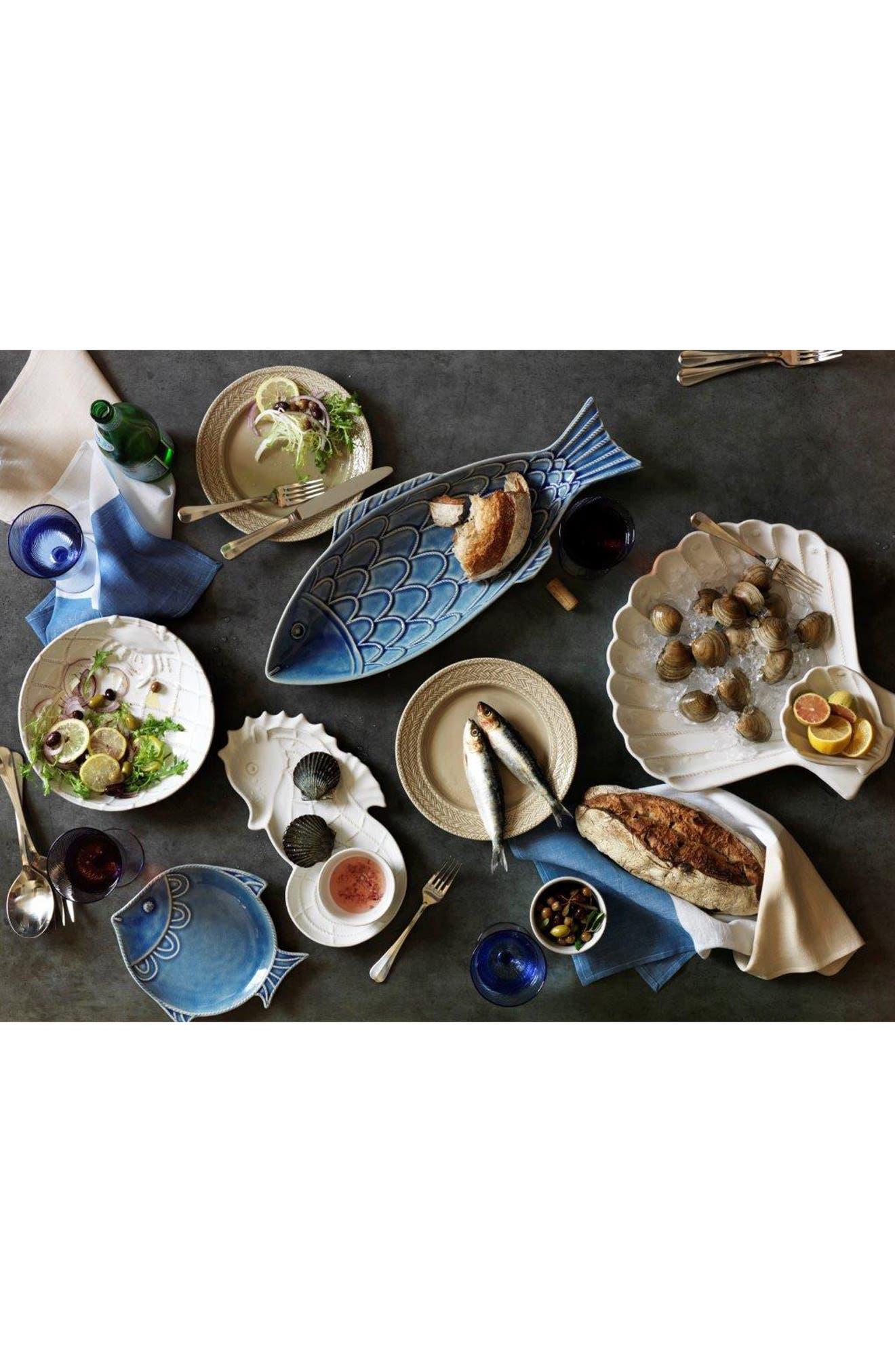 'Berry & Thread - Crackle Fish' Ceramic Platter,                             Alternate thumbnail 4, color,                             BLUE