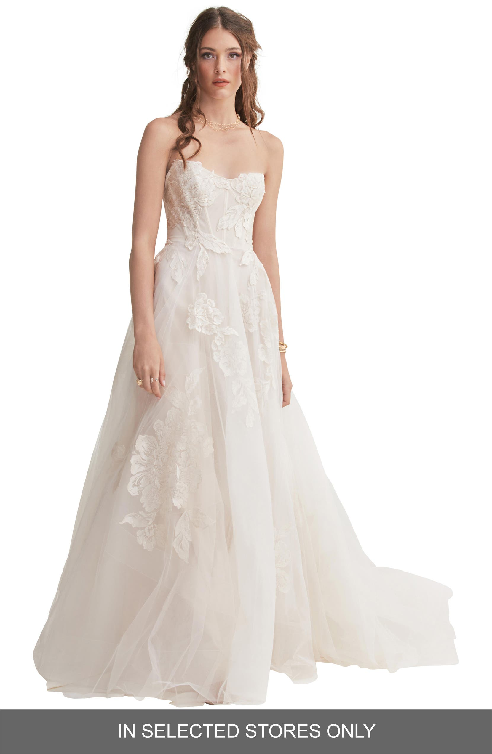 Willowby Harmony Strapless Lace Tulle Wedding Dress Nordstrom