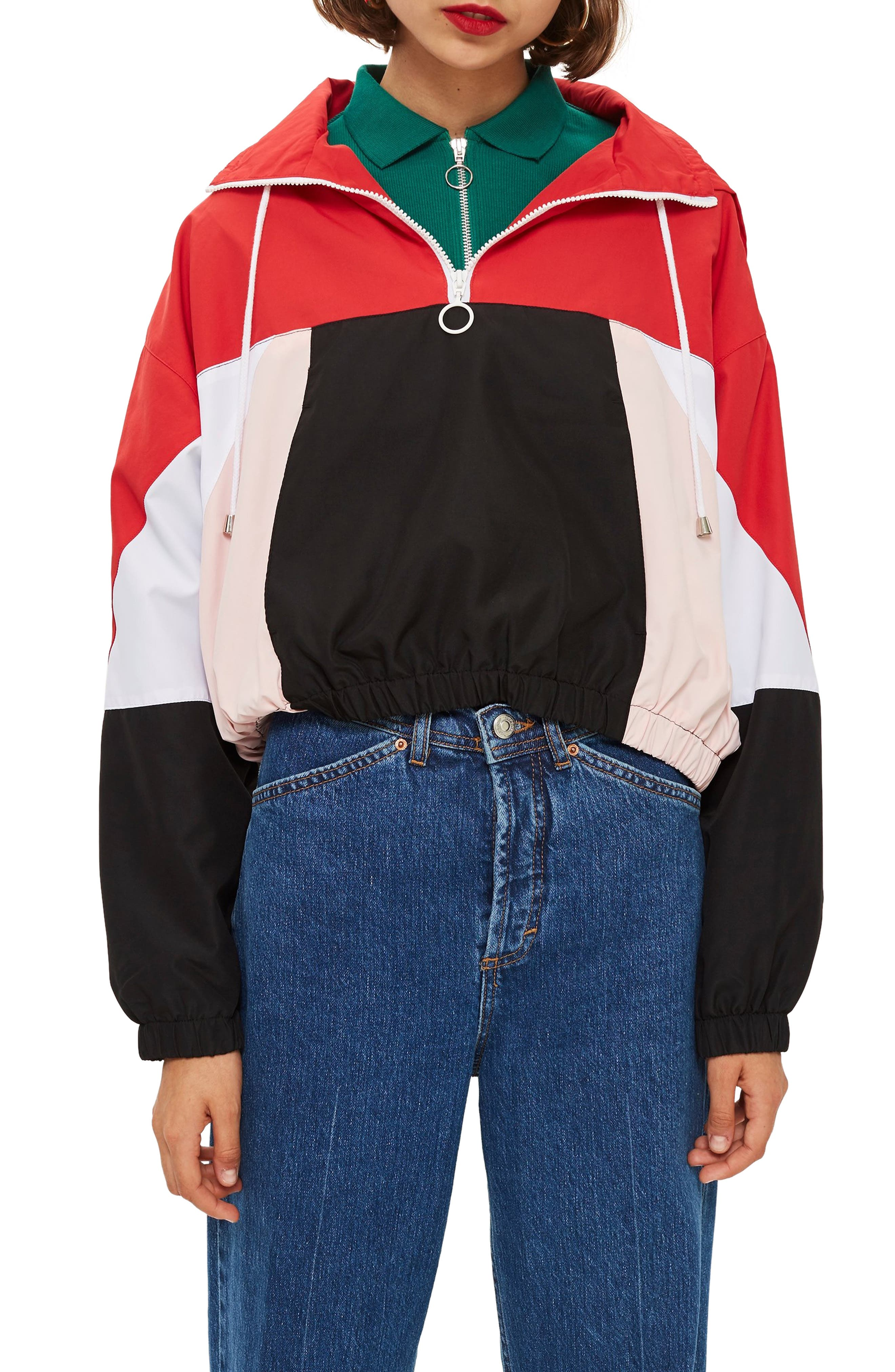 Overhead Colorblock Windbreaker Jacket,                             Main thumbnail 1, color,                             001