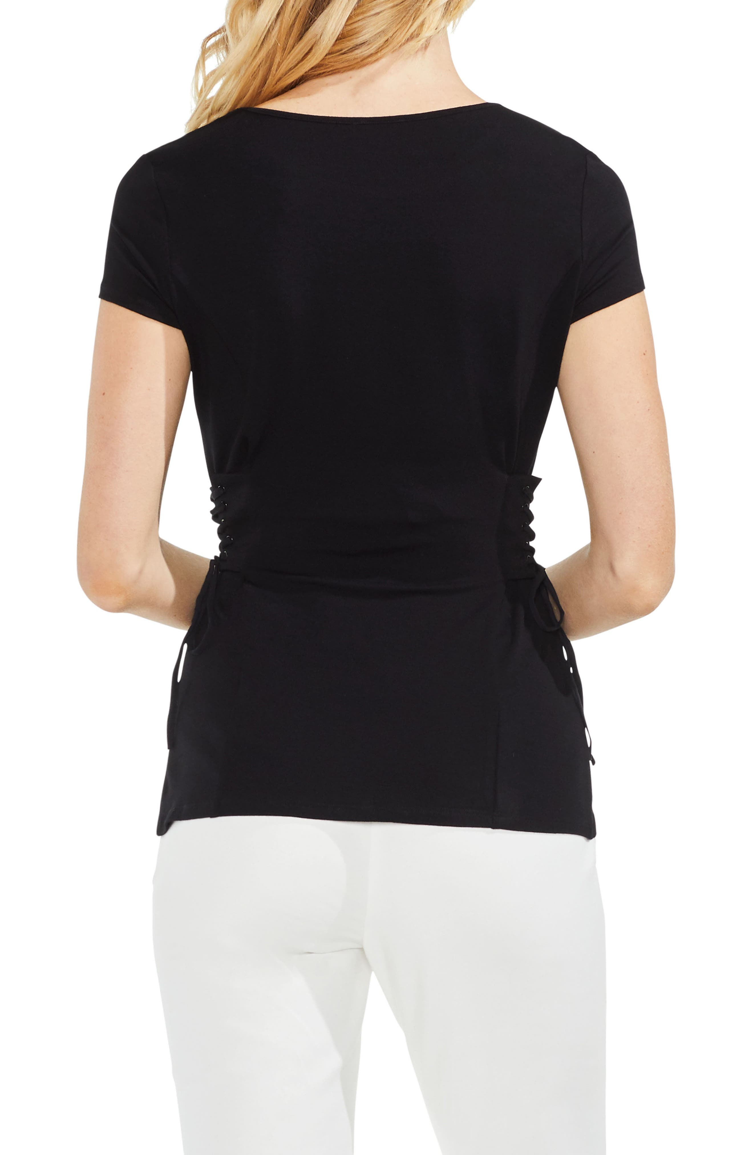 Side Lace-Up Top,                             Alternate thumbnail 2, color,                             006