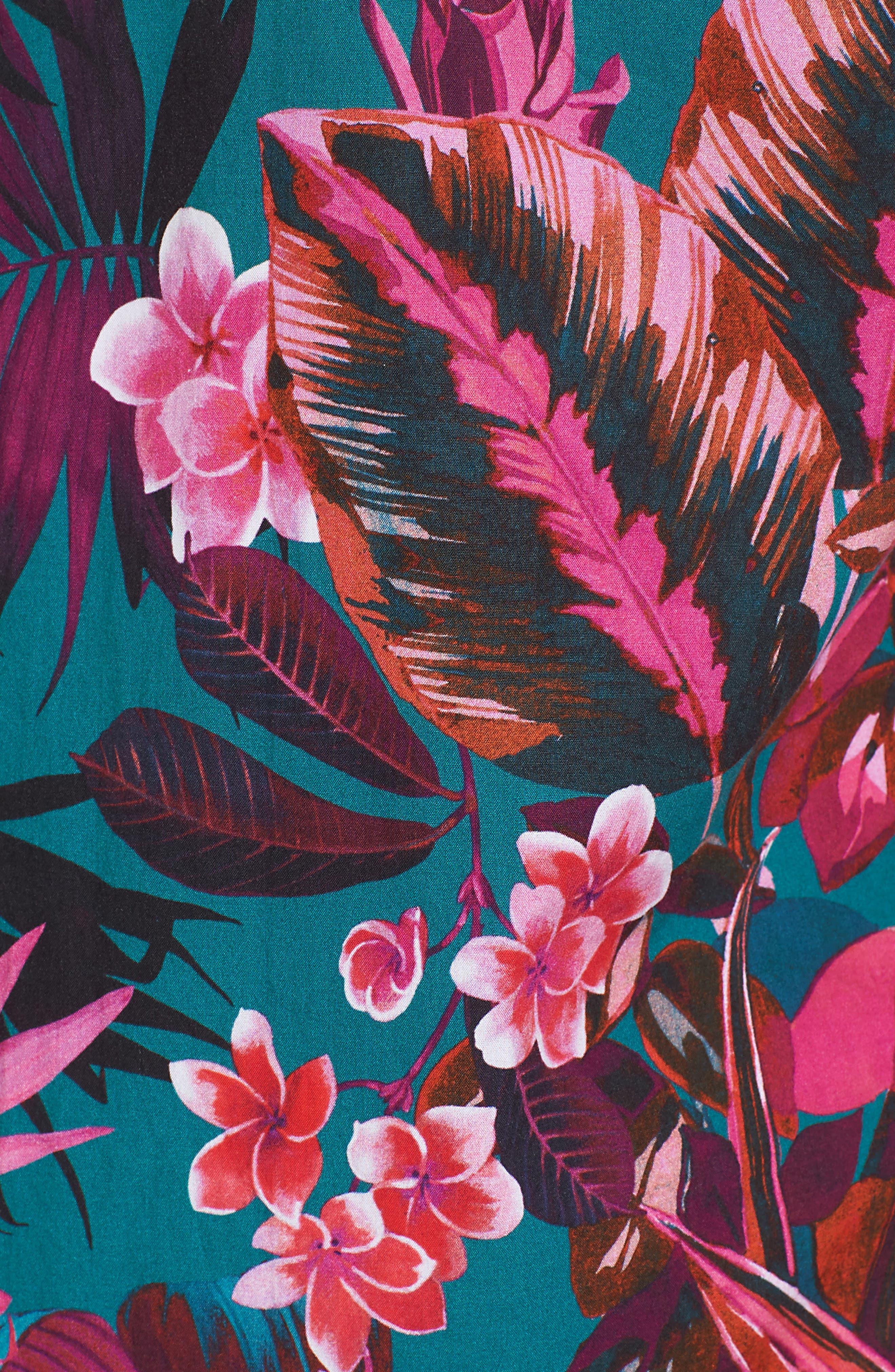 Premium Slim Fit Short Sleeve Print Sport Shirt,                             Alternate thumbnail 5, color,