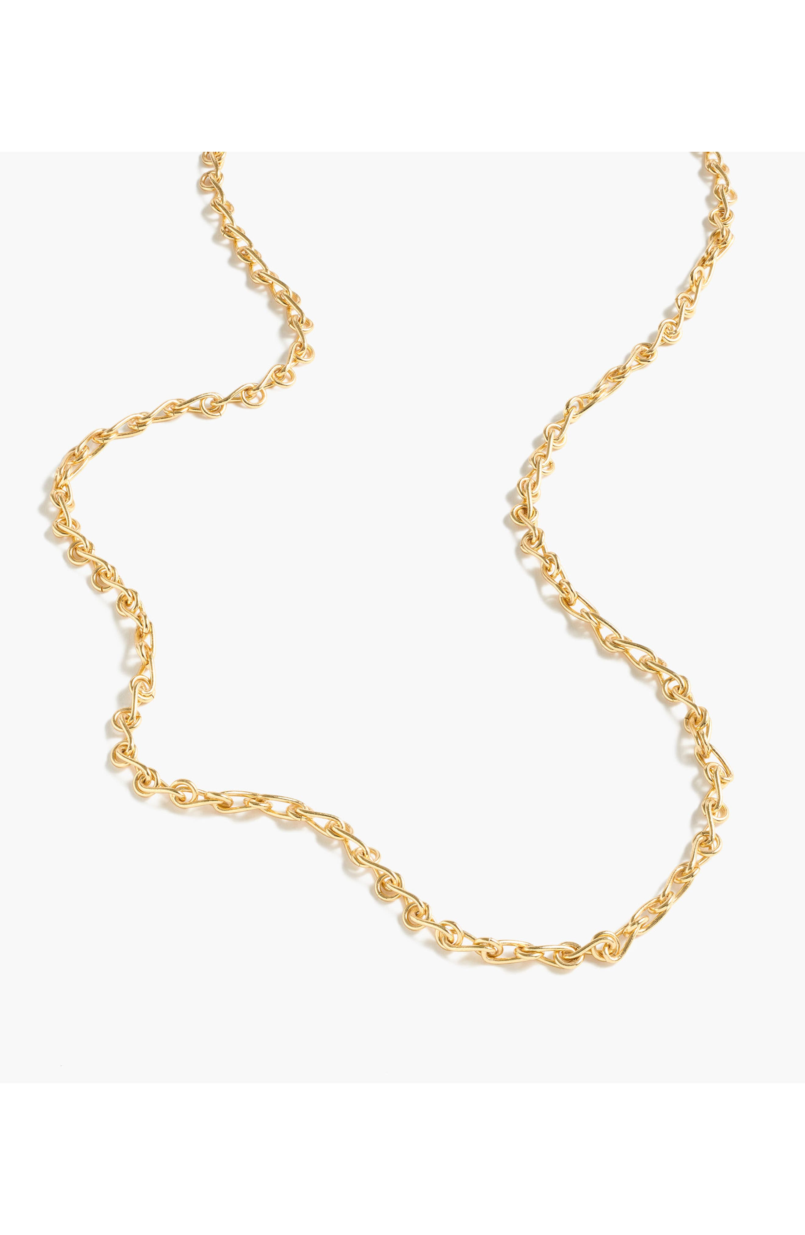 Chain Link Lariat Necklace,                             Alternate thumbnail 2, color,