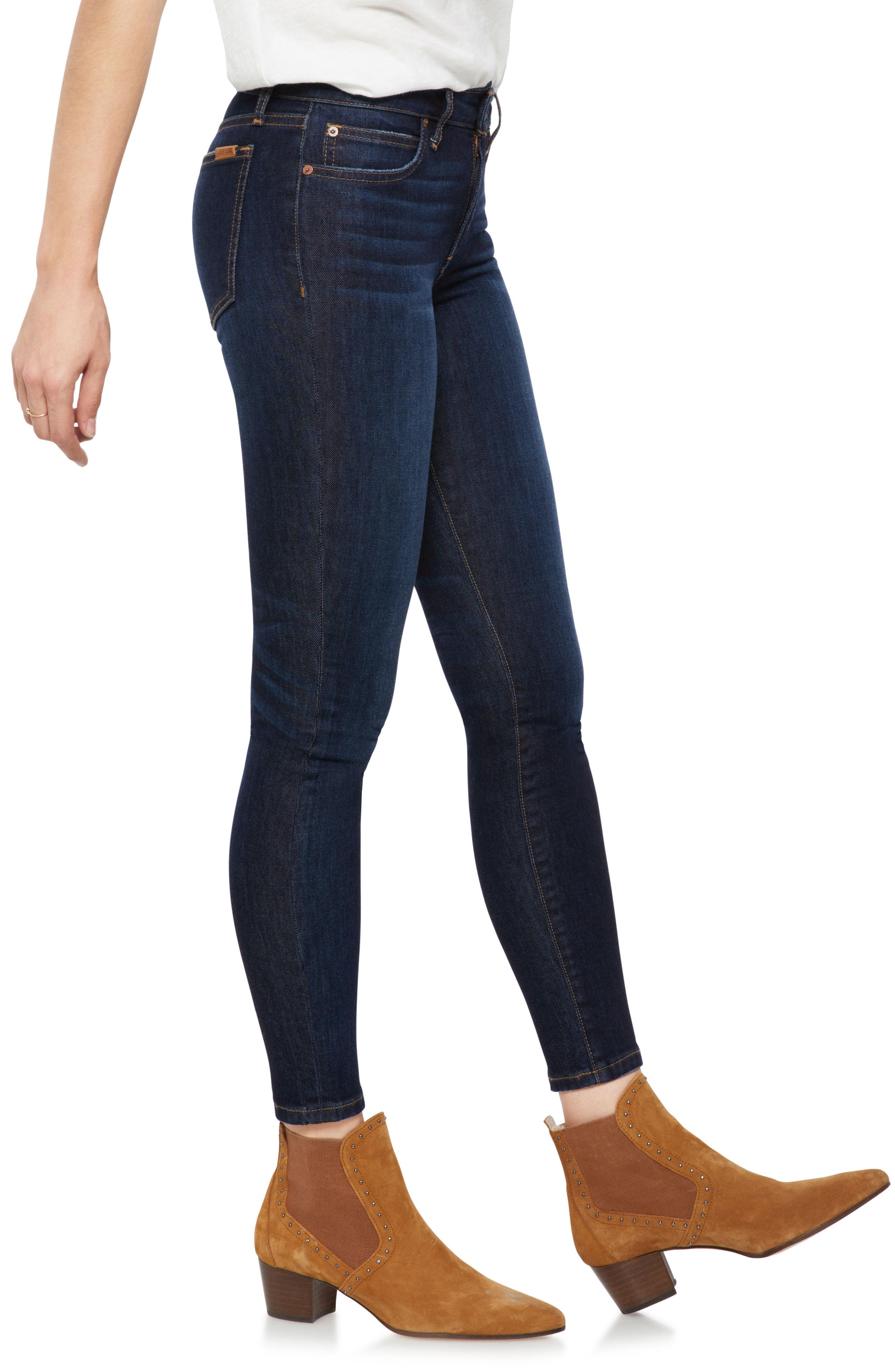 JOE'S,                             Icon Ankle Skinny Jeans,                             Alternate thumbnail 3, color,                             GIANNA