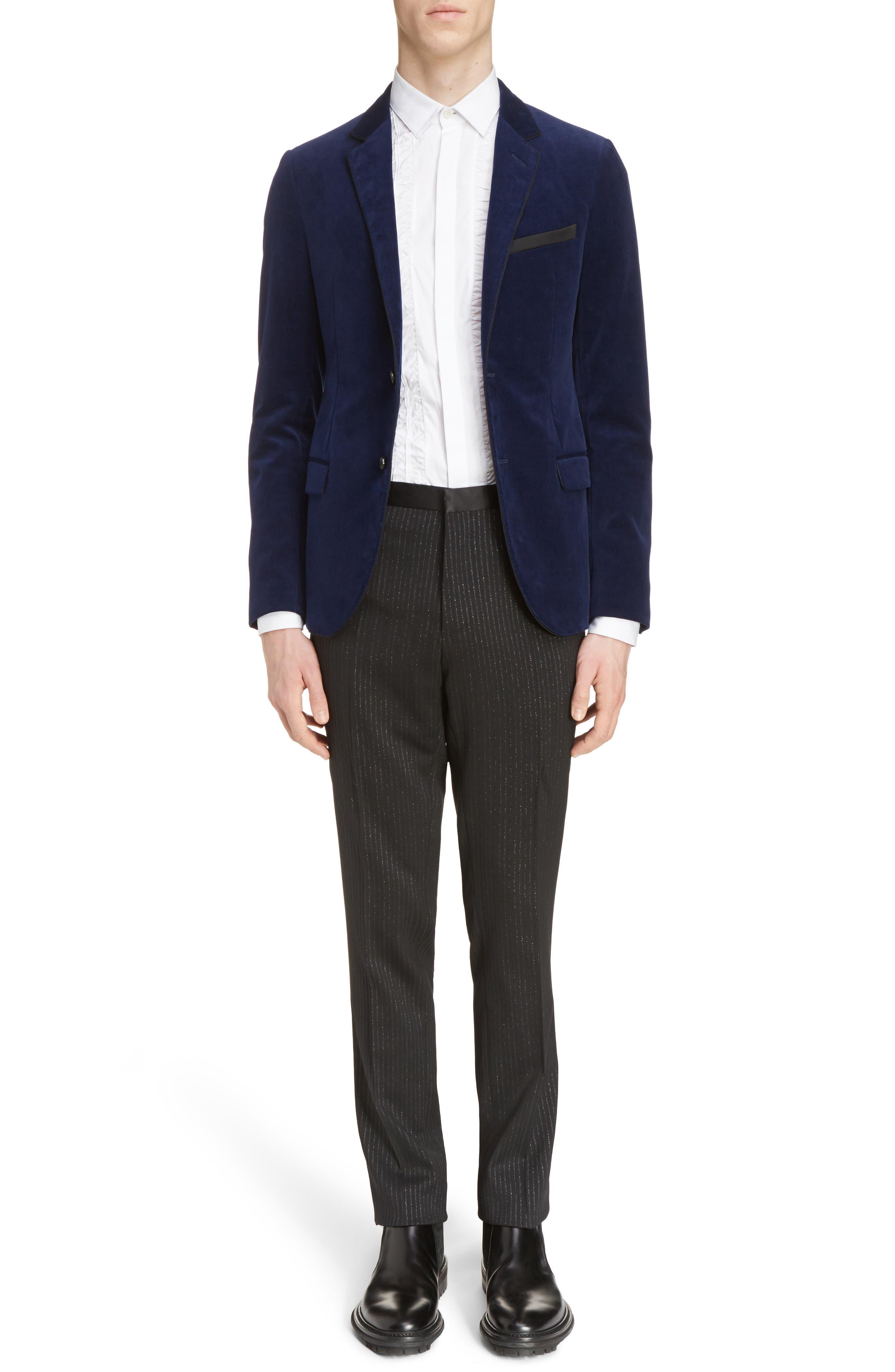 Extra Slim Fit Velvet Jacket,                             Alternate thumbnail 6, color,                             400