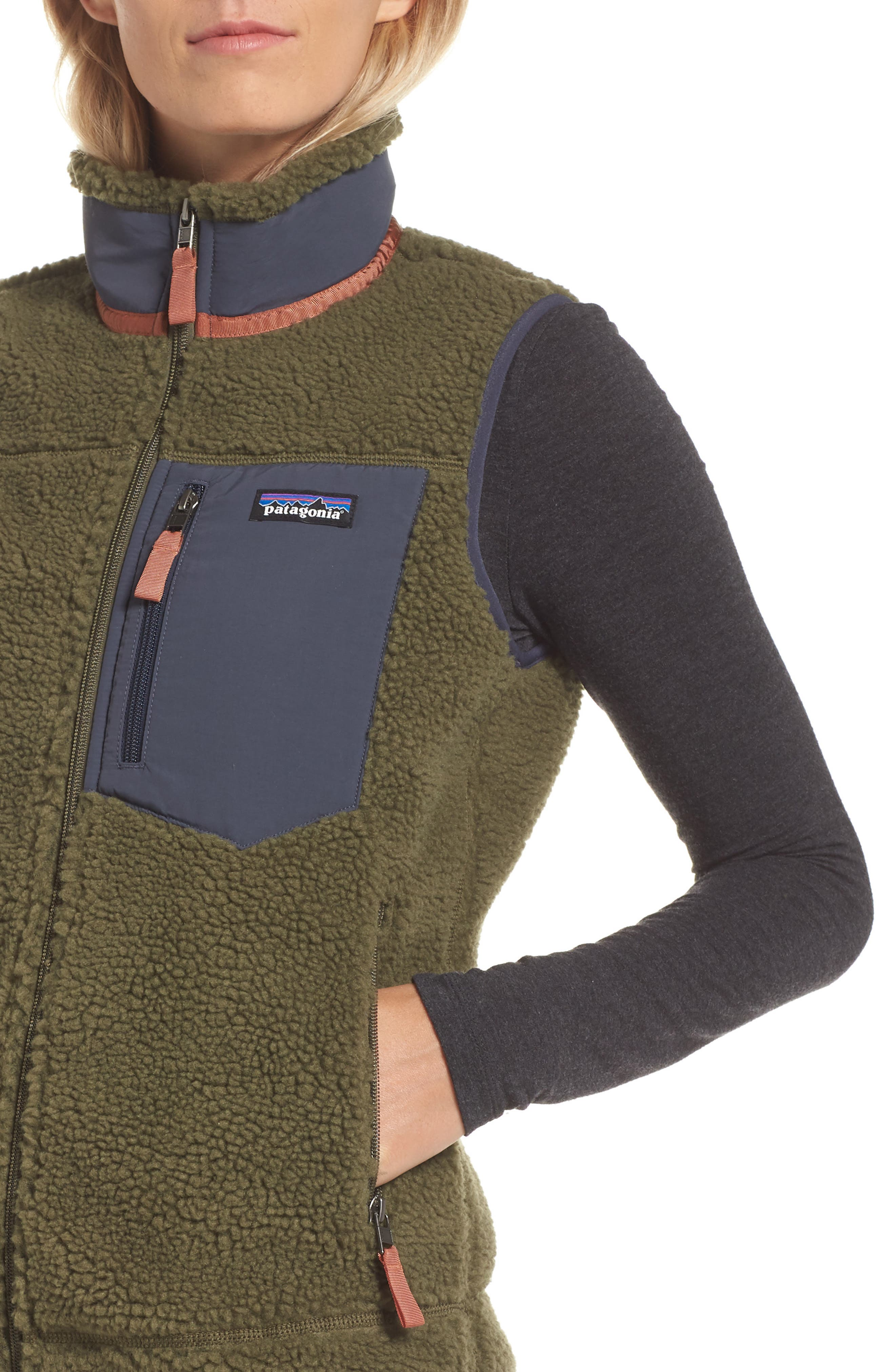 Classic Retro-X<sup>®</sup> Fleece Vest,                             Alternate thumbnail 4, color,                             FATIGUE GREEN