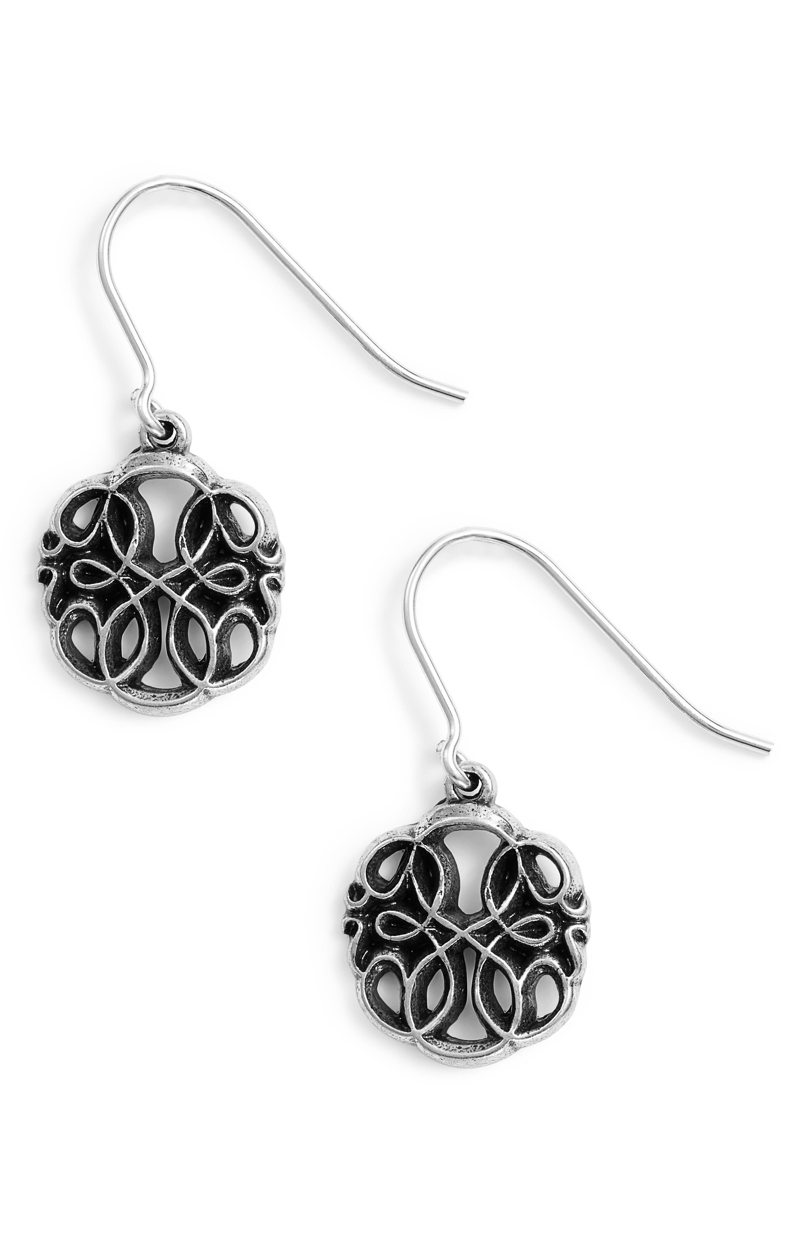Path of Life Drop Earrings,                         Main,                         color, SILVER