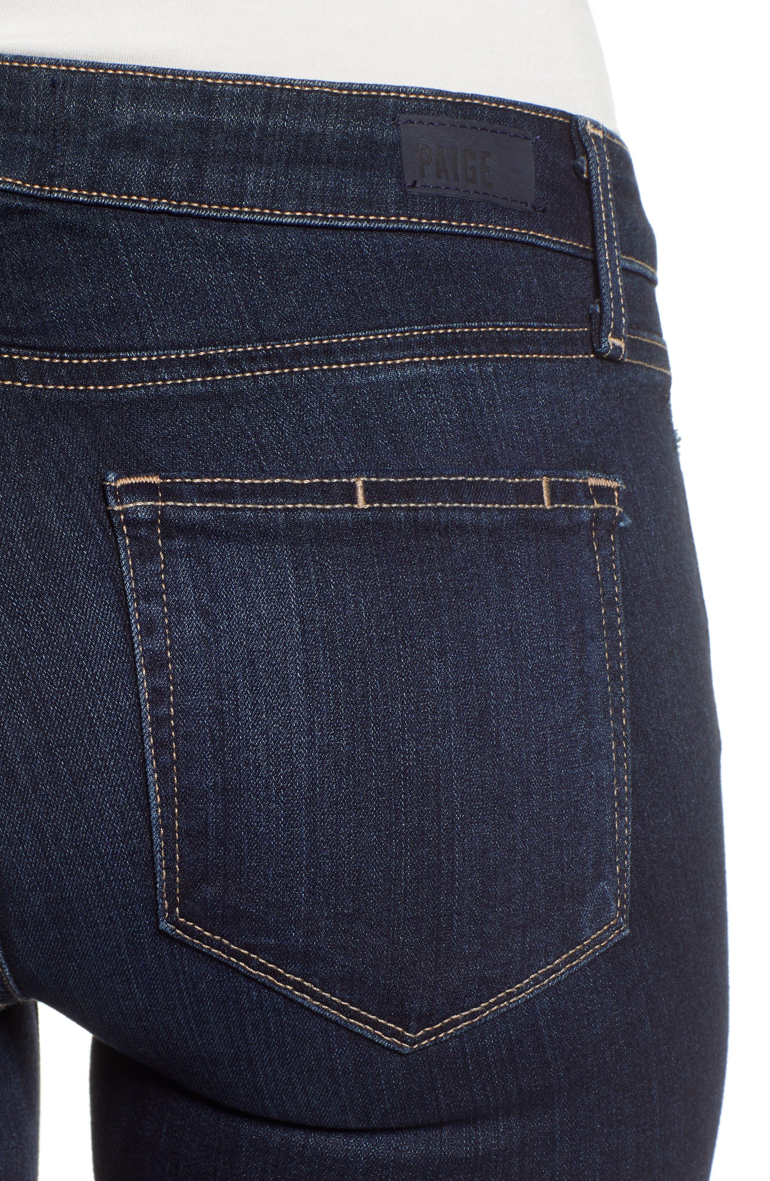 Transcend - Skyline Straight Leg Jeans,                             Alternate thumbnail 4, color,                             GARDENA