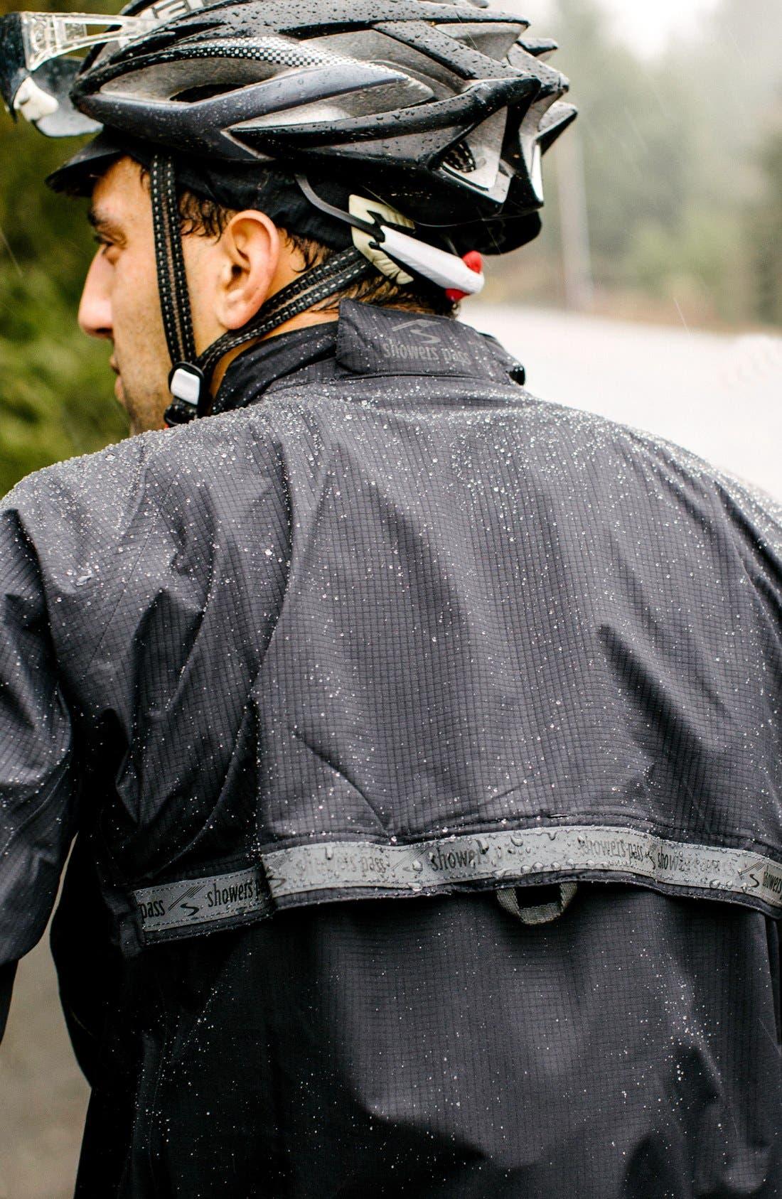 SHOWERS PASS,                             'Elite 2.1' Trim Fit Waterproof Hooded Jacket,                             Alternate thumbnail 6, color,                             001