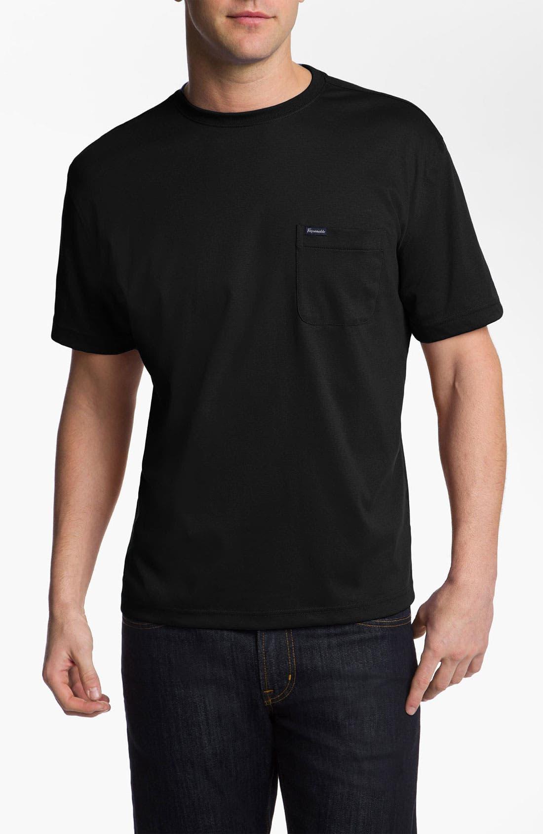Façonnable Crewneck T-Shirt,                             Main thumbnail 1, color,                             001