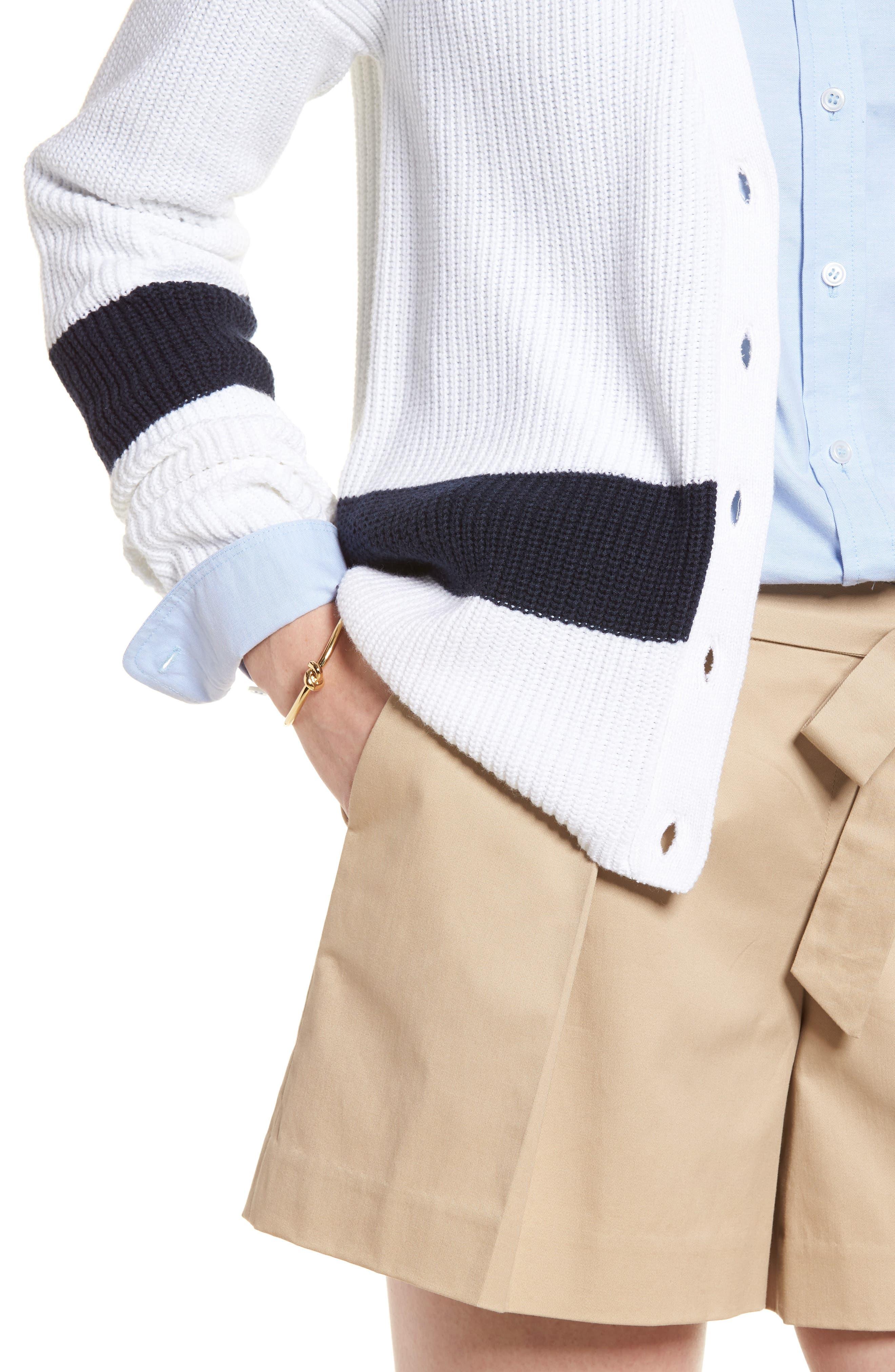 Shaker Knit Cardigan,                             Alternate thumbnail 4, color,                             100