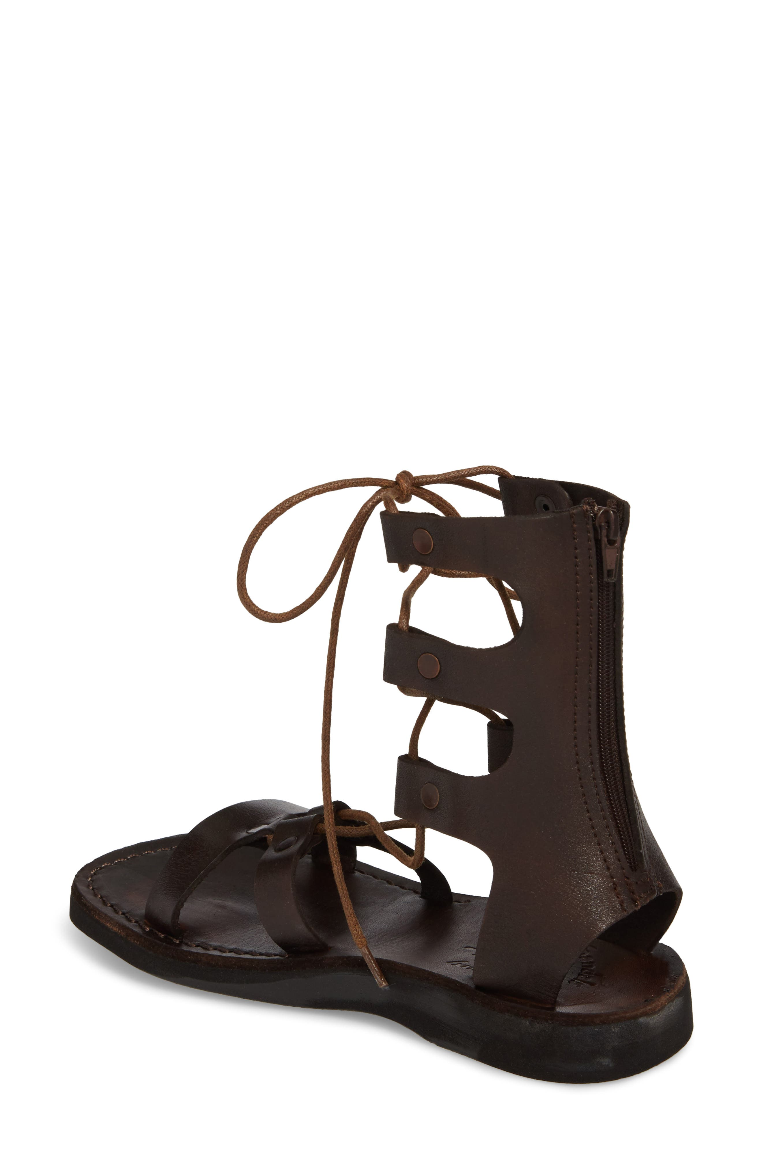 Rebecca Sandal,                             Alternate thumbnail 2, color,                             BROWN LEATHER