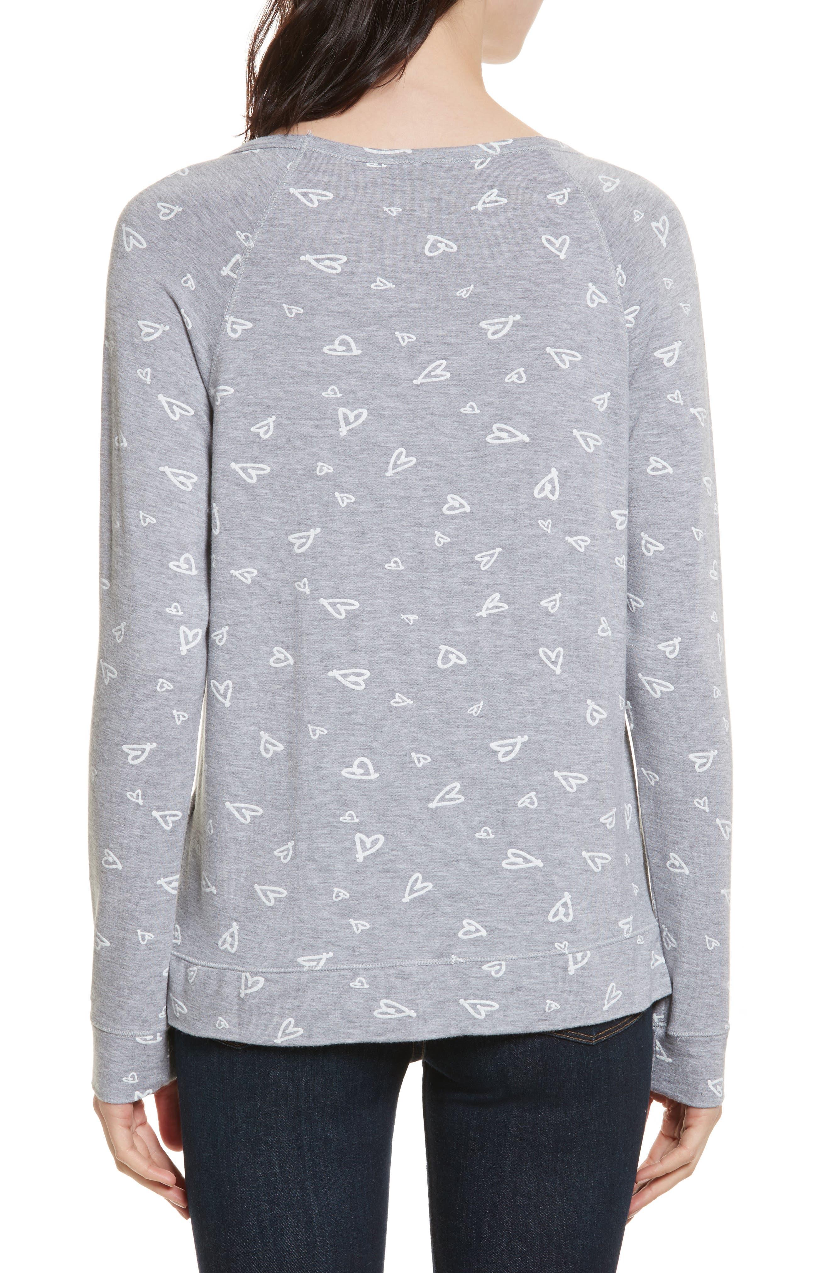 Annora B Print Cotton & Modal Blend Sweatshirt,                             Alternate thumbnail 2, color,                             071