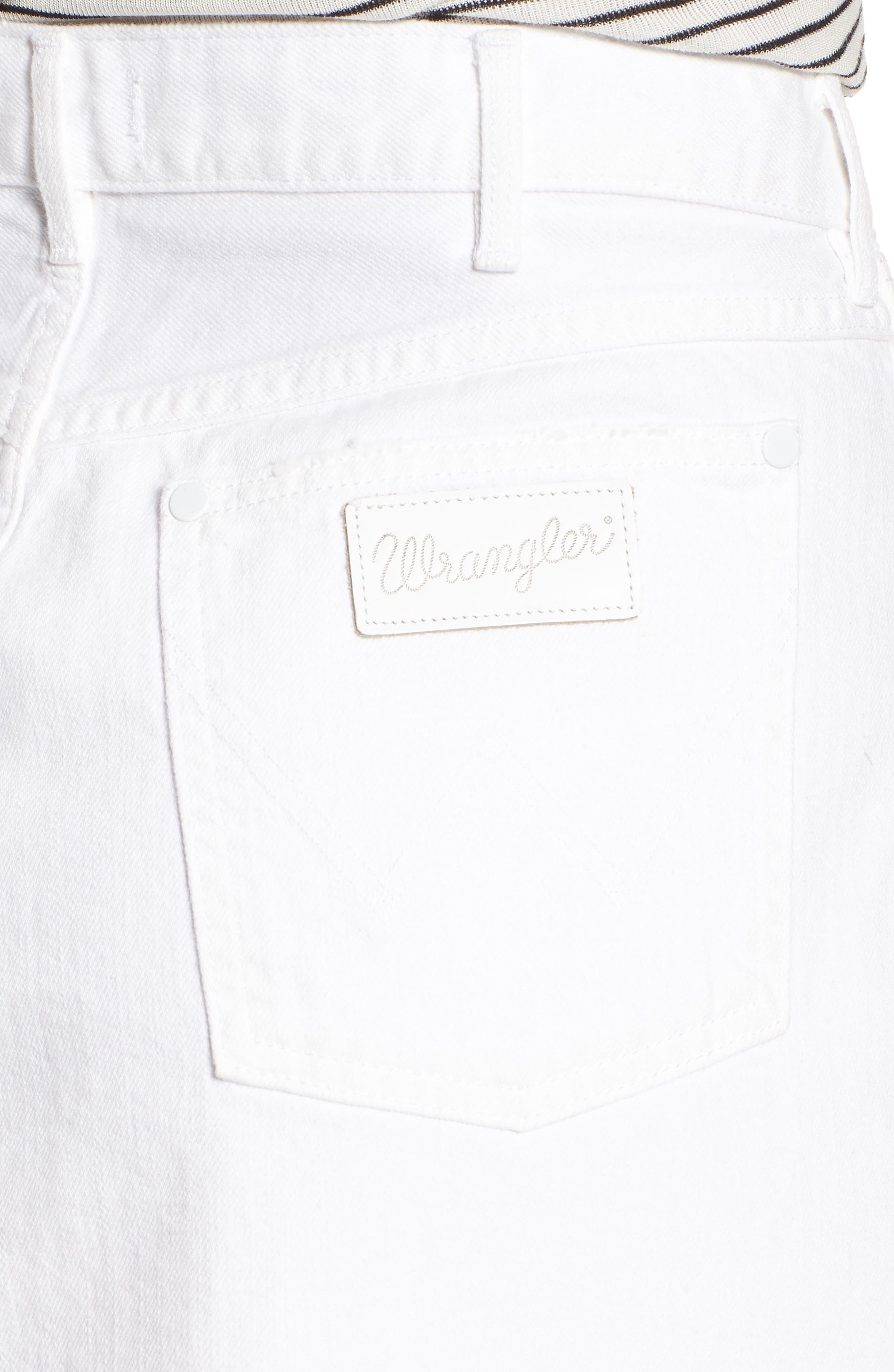 Fray Hem Denim Skirt,                             Alternate thumbnail 4, color,                             100