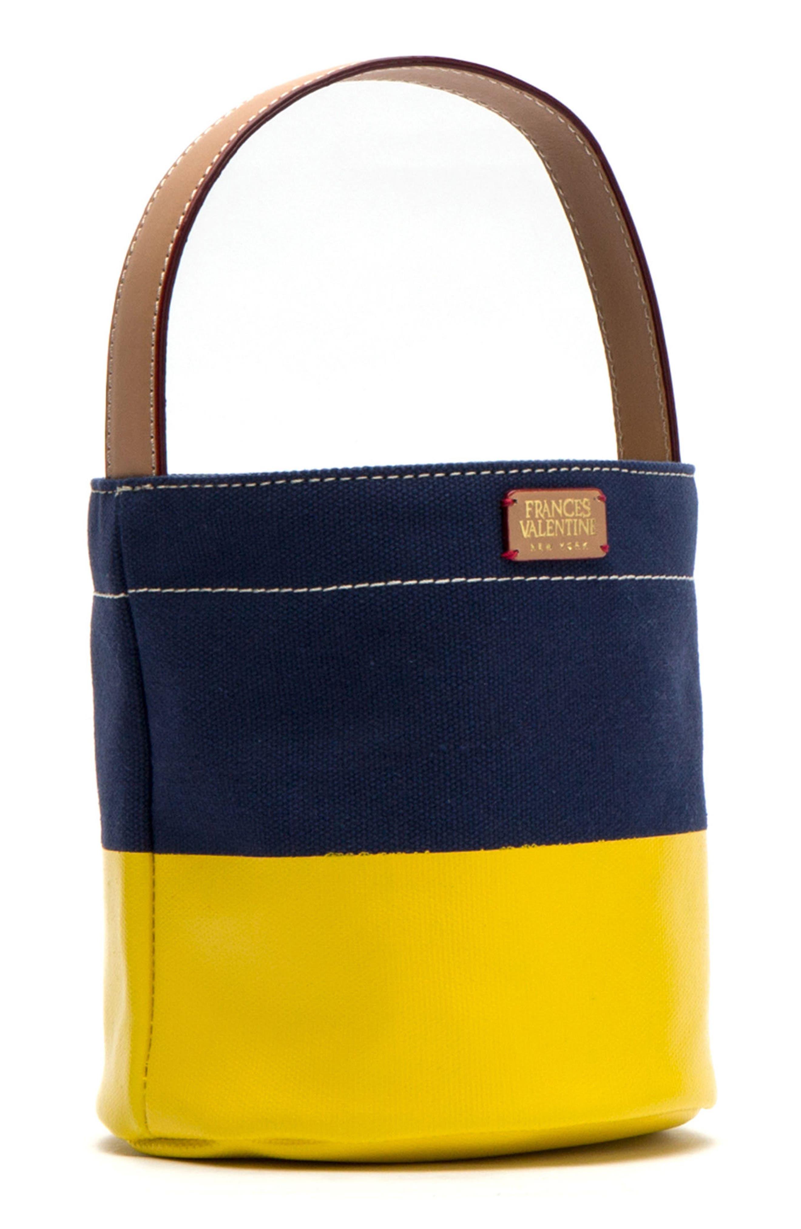 Small Canvas Bucket Bag,                             Alternate thumbnail 3, color,                             400