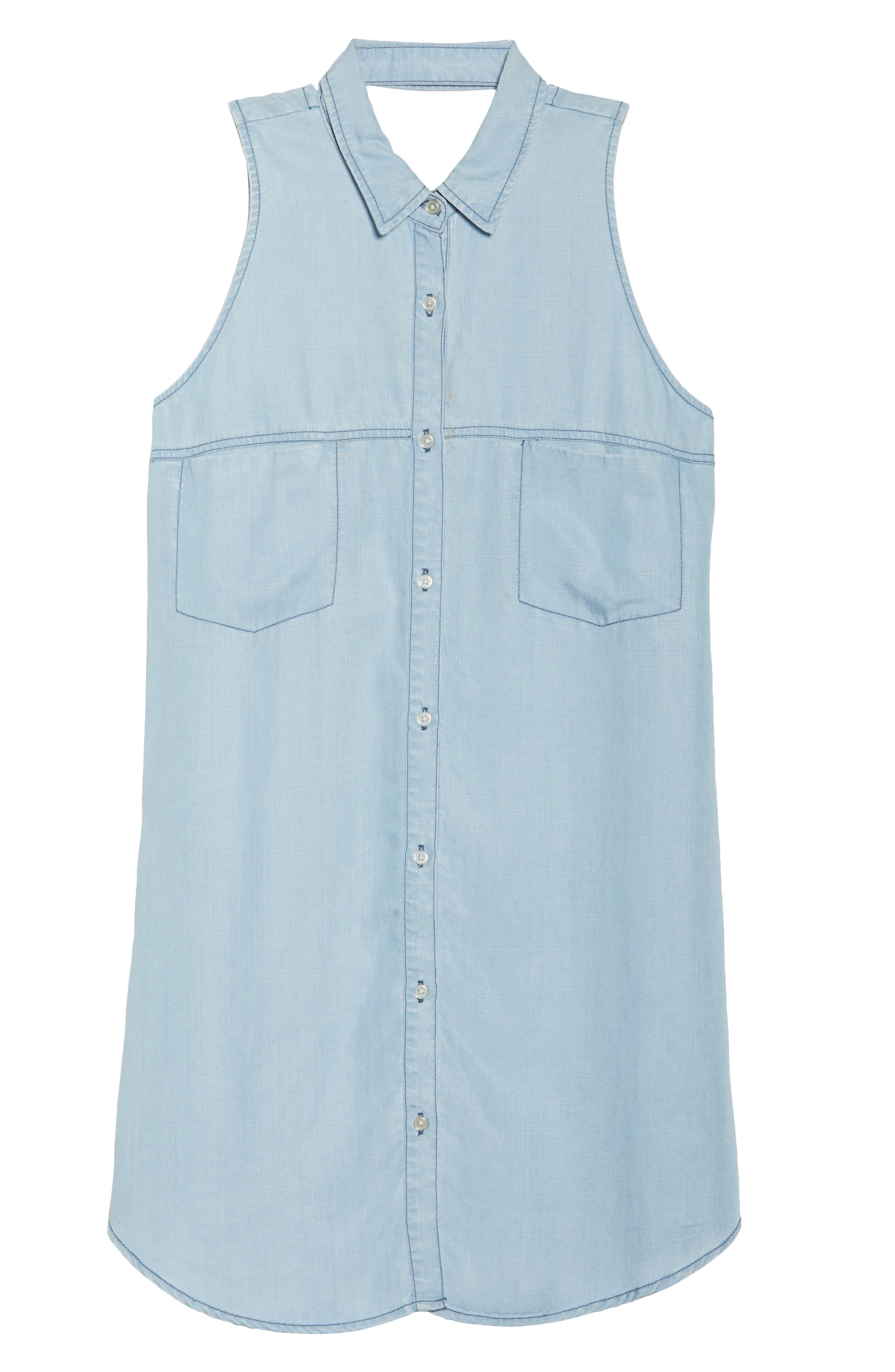 Brantley Indigo Shirtdress,                             Alternate thumbnail 6, color,