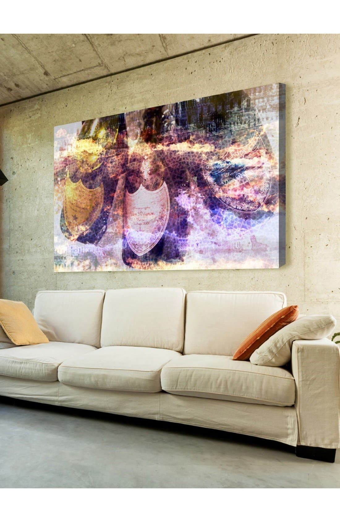 'Champagne Bath' Canvas Wall Art,                             Alternate thumbnail 2, color,                             PURPLE