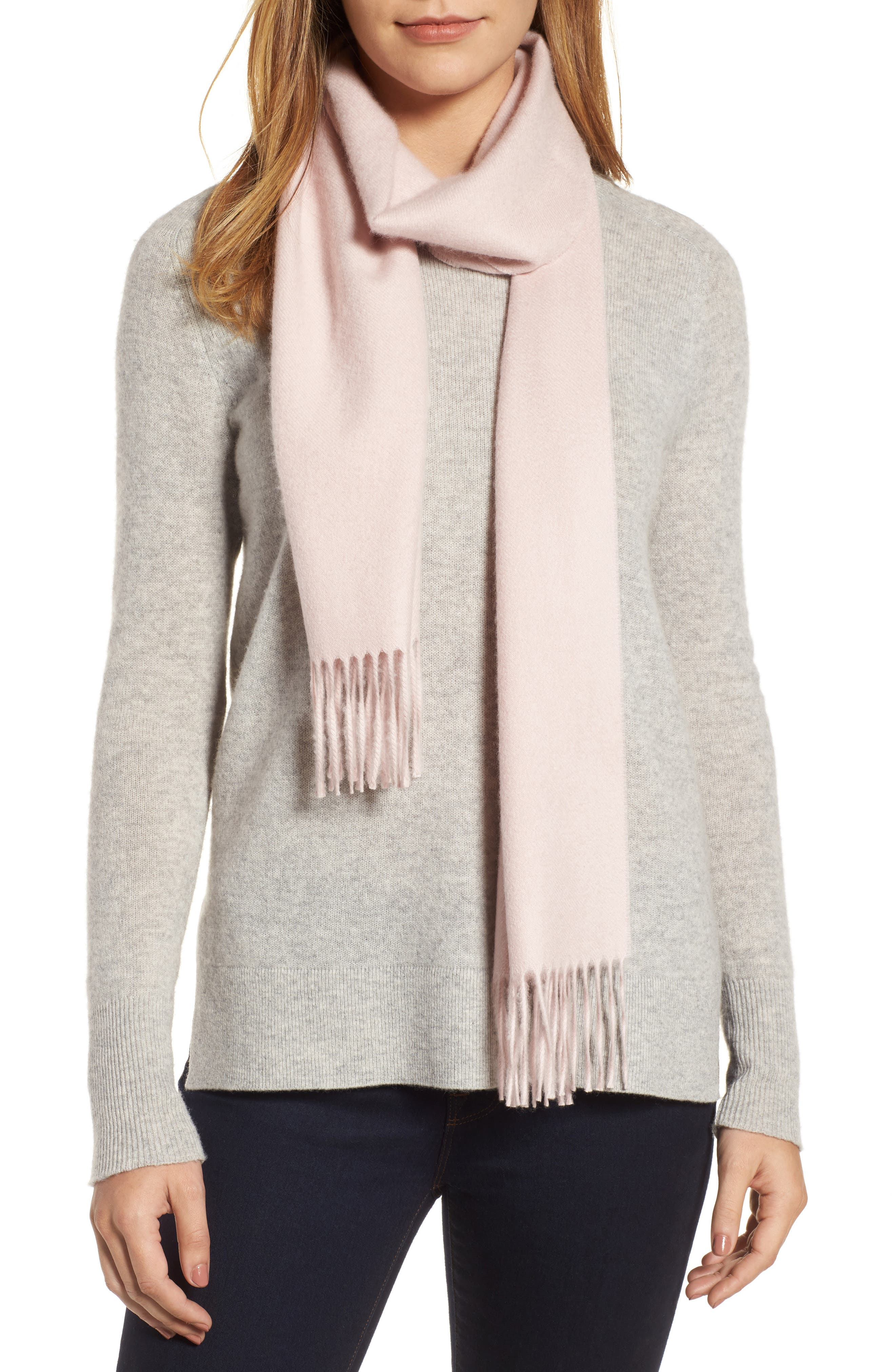 Solid Woven Cashmere Scarf,                             Alternate thumbnail 19, color,