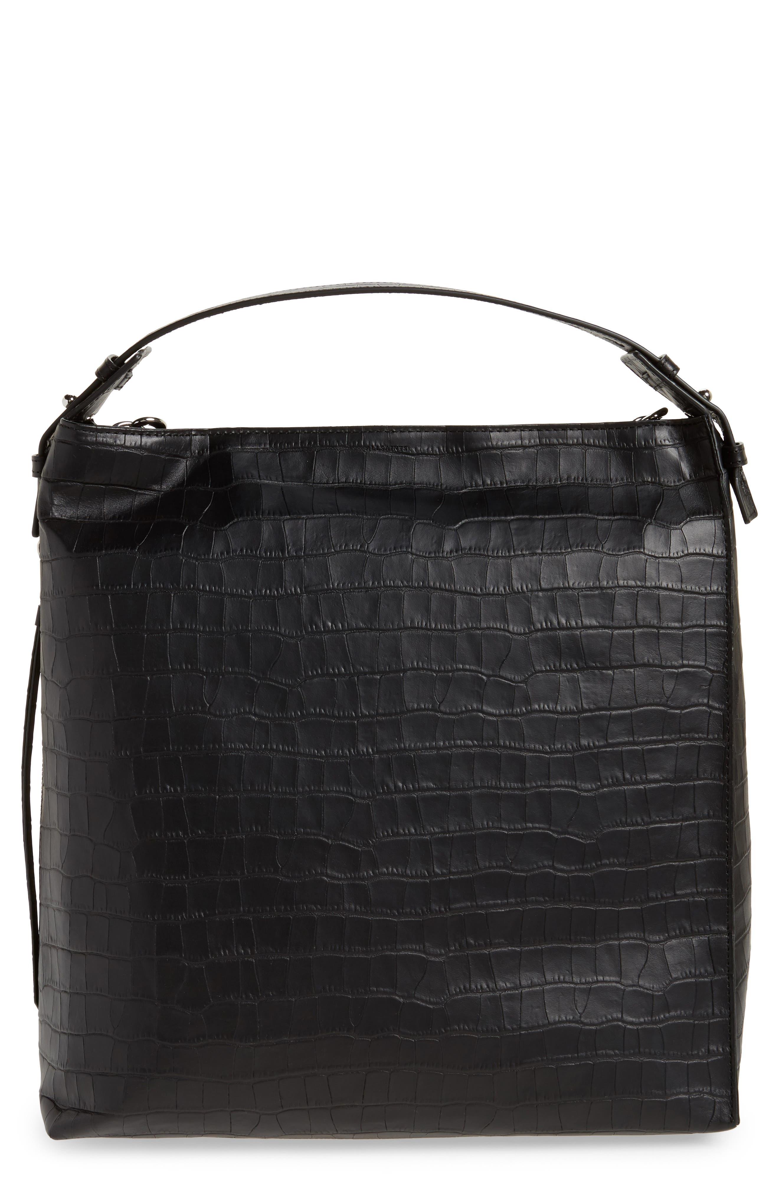 Atlas Convertible Leather Backpack,                             Main thumbnail 1, color,                             001