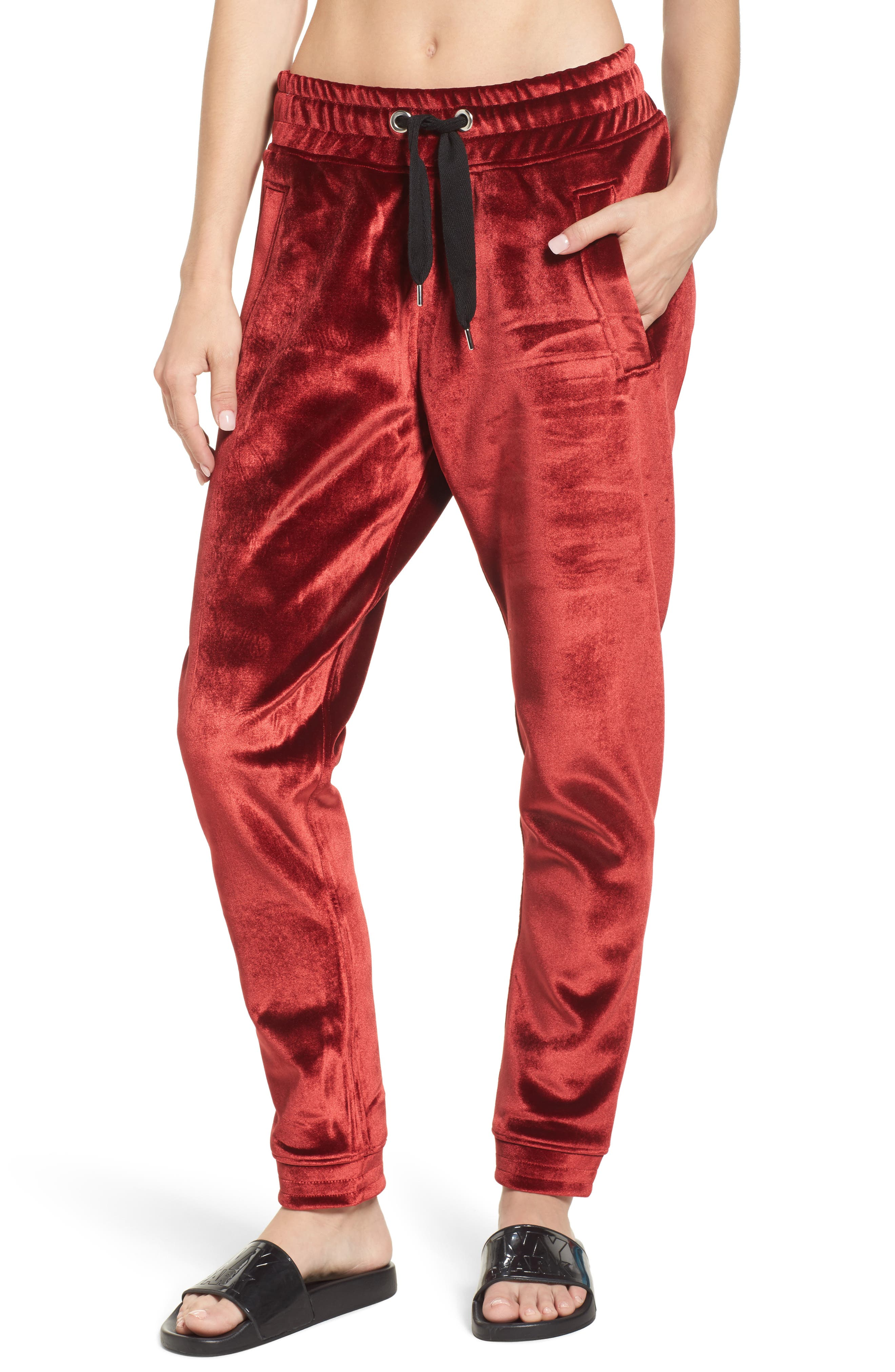 Velvet Jogger Pants,                             Main thumbnail 1, color,                             600