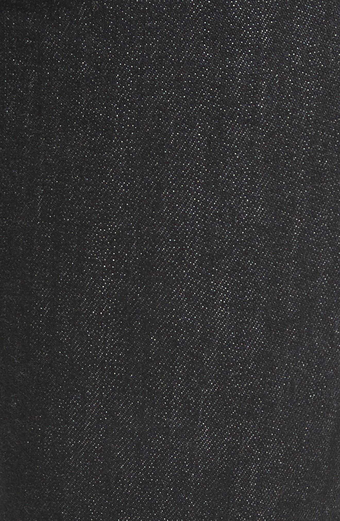 High Waist Ankle Skinny Jeans,                             Alternate thumbnail 5, color,                             002