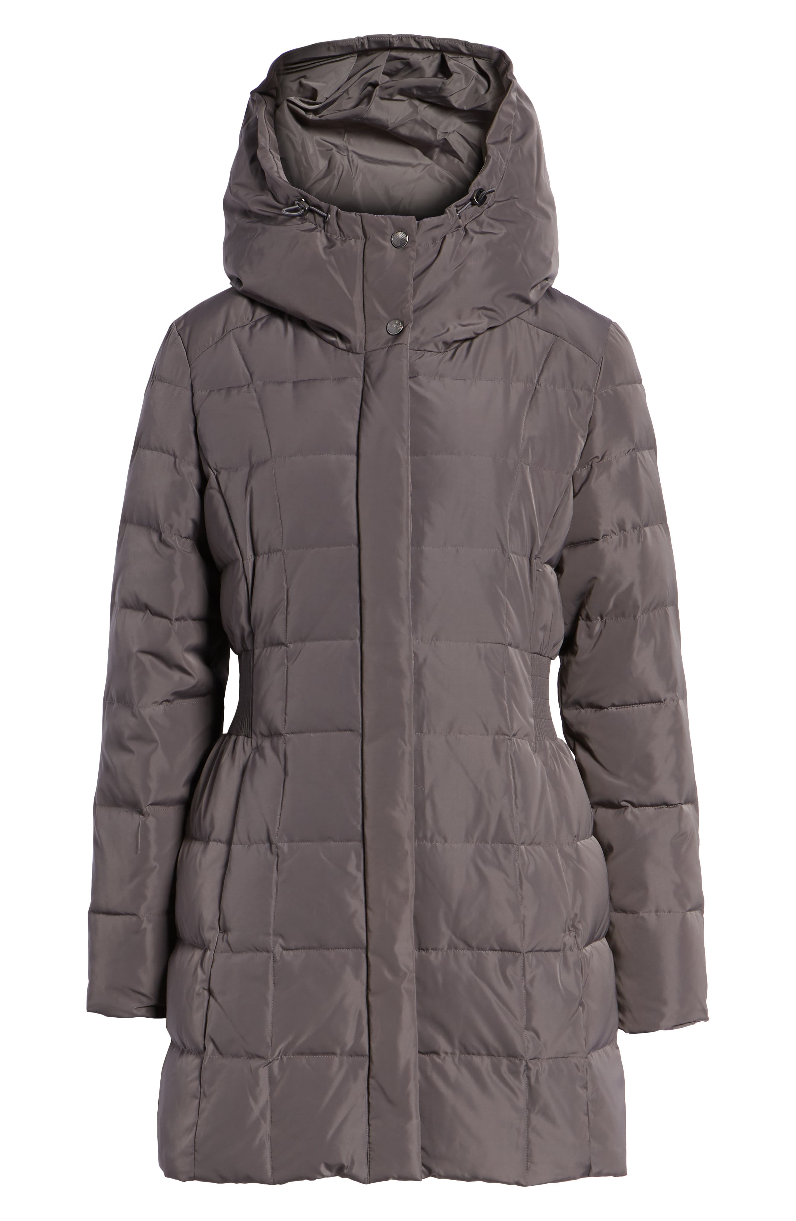 Cole Haan Hooded Down & Feather Jacket,                             Alternate thumbnail 6, color,                             CARBON